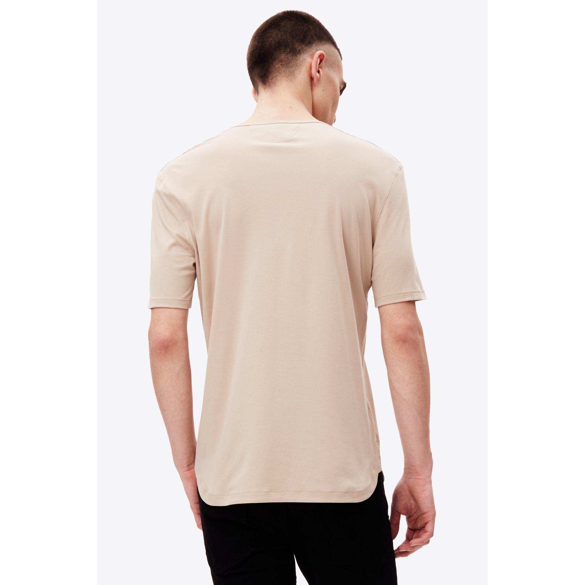 helmut lang short sleeve t shirt in natural for men lyst. Black Bedroom Furniture Sets. Home Design Ideas