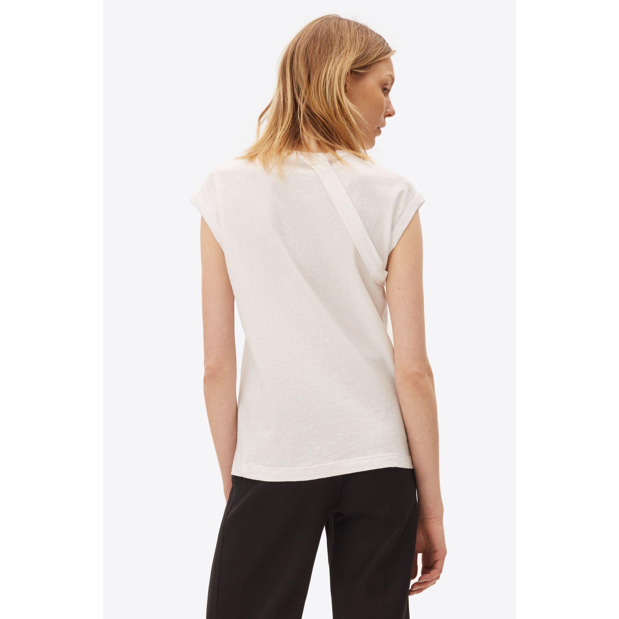 helmut lang strap t shirt in white lyst. Black Bedroom Furniture Sets. Home Design Ideas