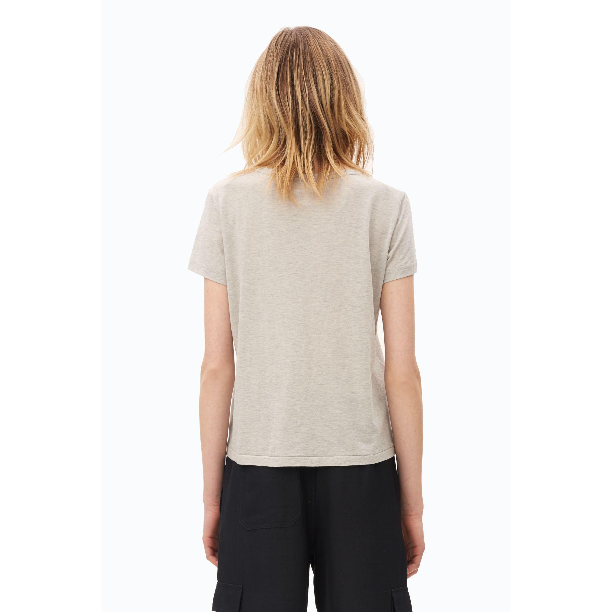 helmut lang cotton cashmere kick front t shirt in gray lyst. Black Bedroom Furniture Sets. Home Design Ideas