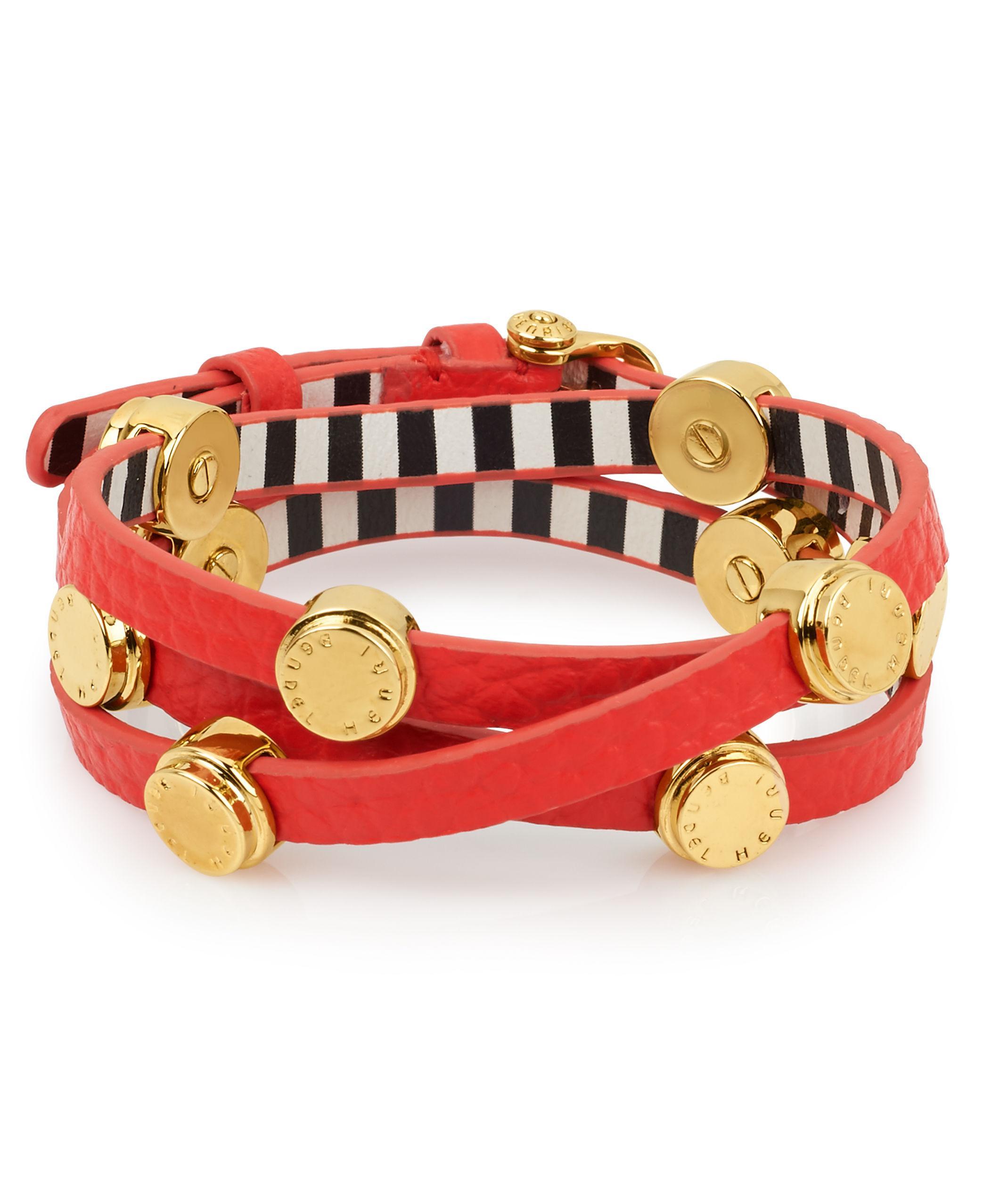 Lyst Henri Bendel Carlyle Triple Wrap Bracelet In Red