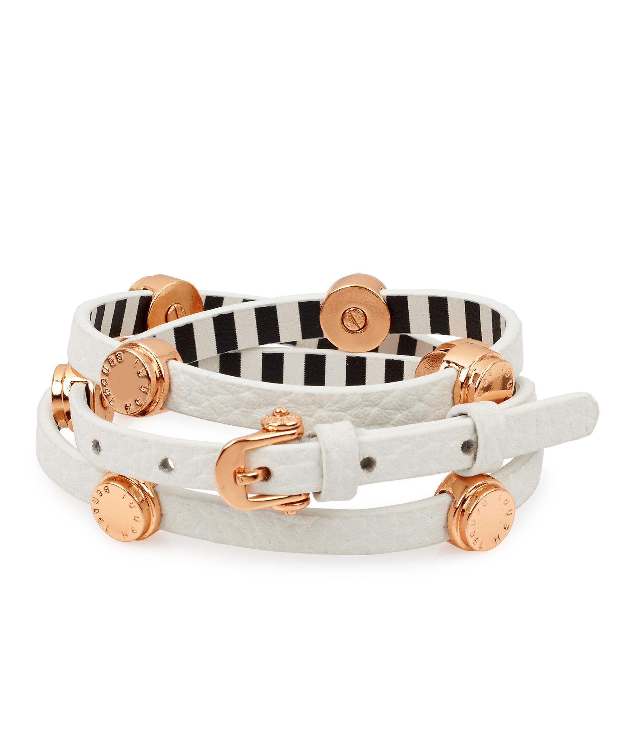 Lyst Henri Bendel Carlyle Triple Wrap Bracelet In White