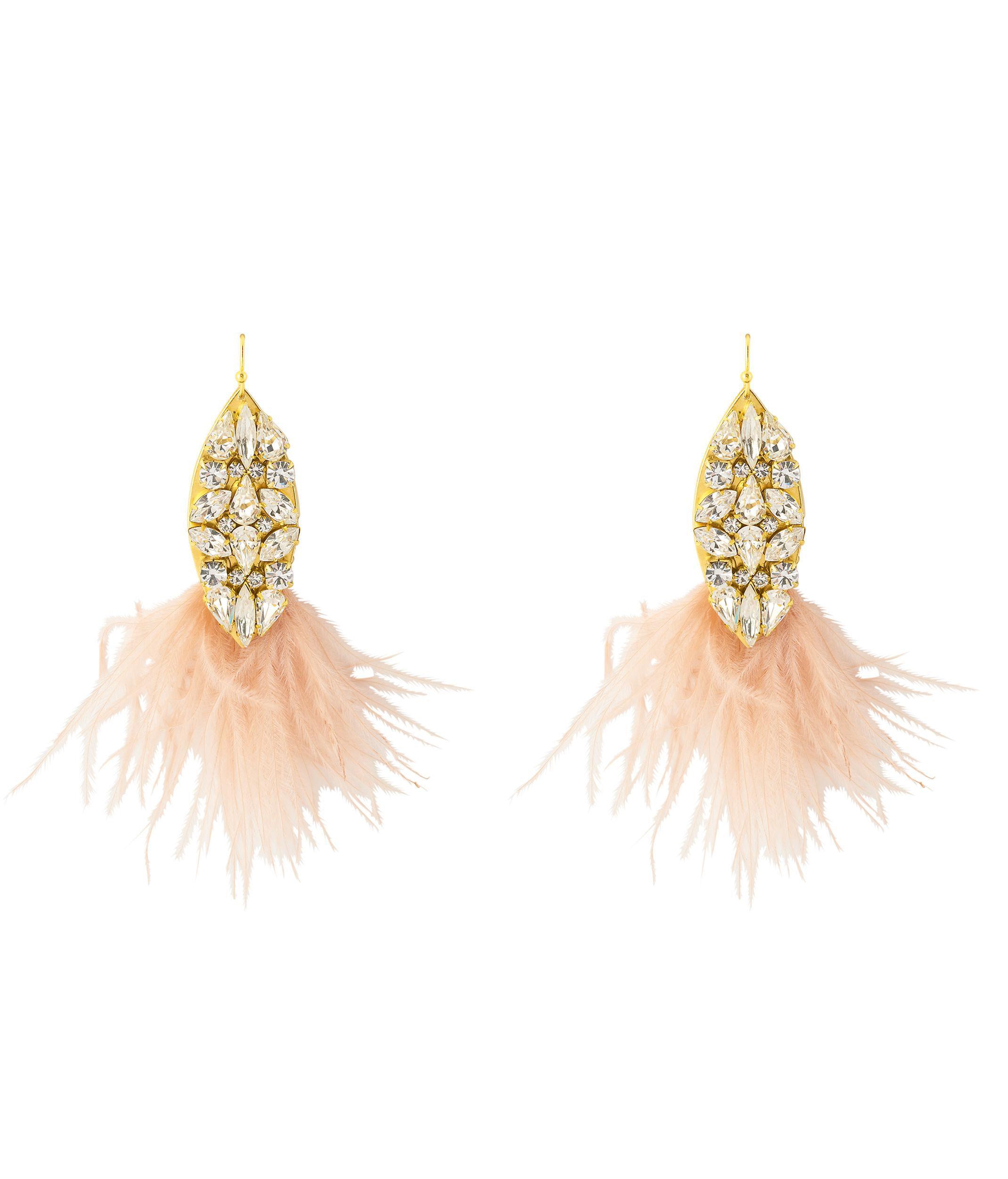 Lyst Henri bendel Sandy Hyun Teardrop Feather Chandelier in Pink
