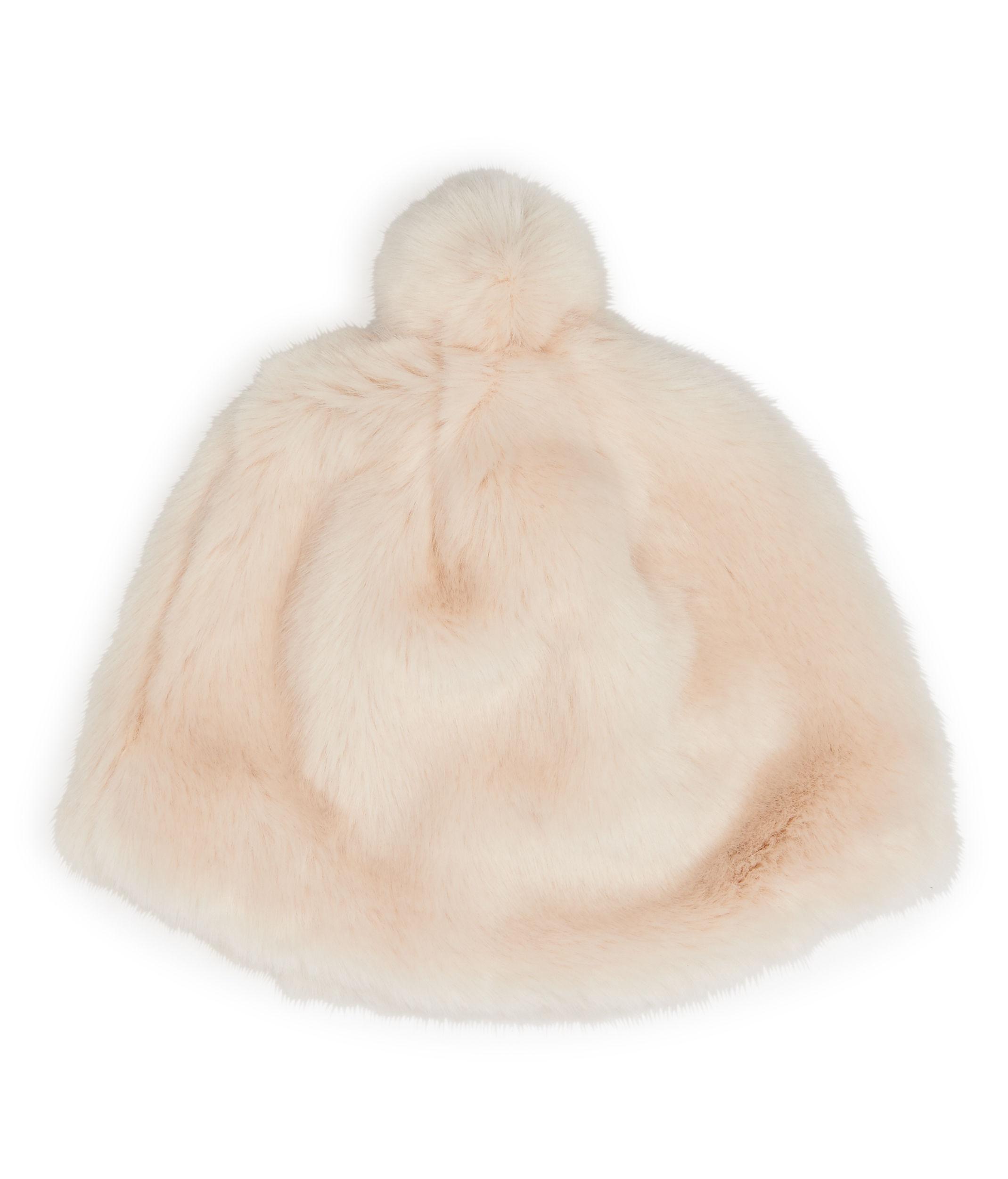 4773313a4f9 Lyst - Henri Bendel Blake Faux Fur Beanie in Pink