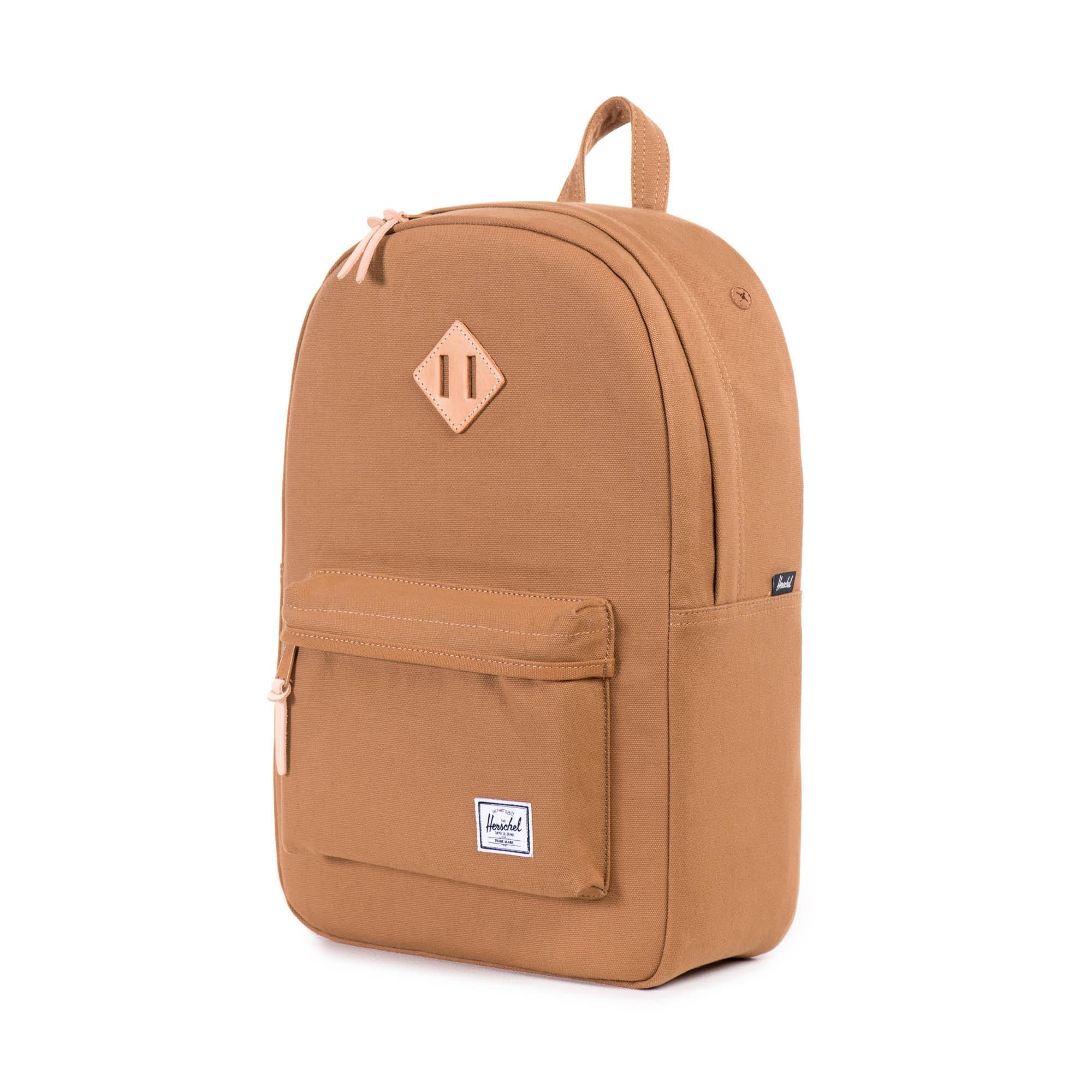 herschel supply co heritage backpack in beige caramel 12oz cotton canvas lyst. Black Bedroom Furniture Sets. Home Design Ideas