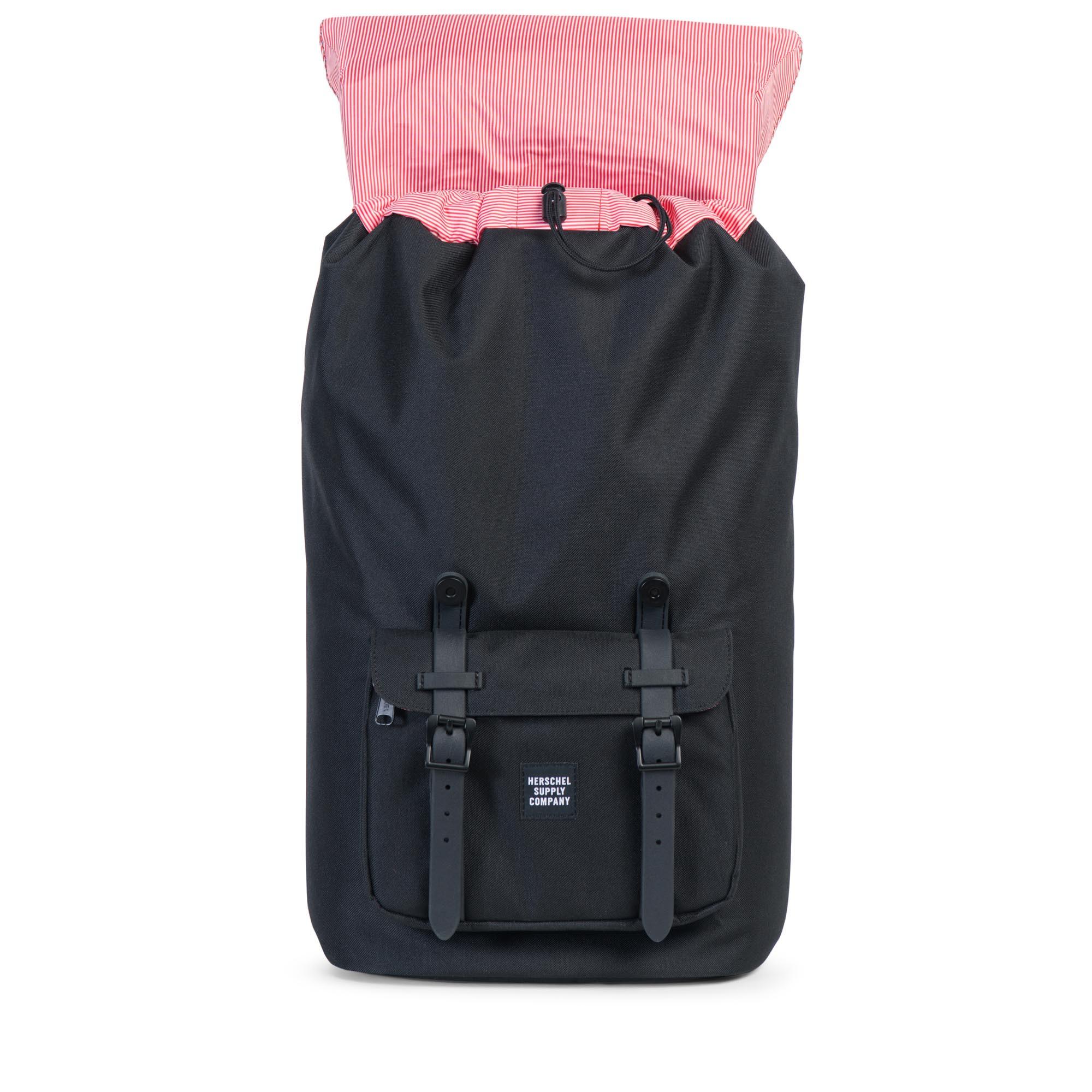 herschel supply co little america backpack in beige black black rubber gum lyst. Black Bedroom Furniture Sets. Home Design Ideas