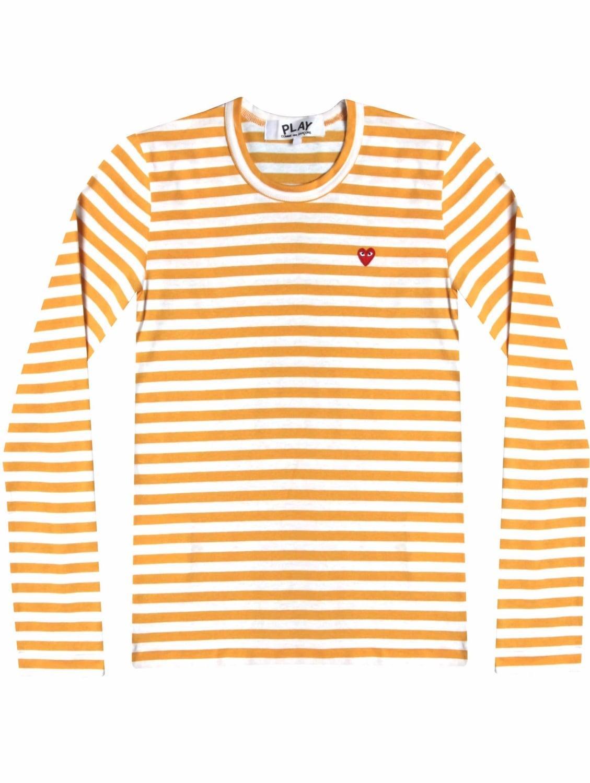 Comme Des Gar Ons Play Women 39 S Red Heart Stripe T Shirt