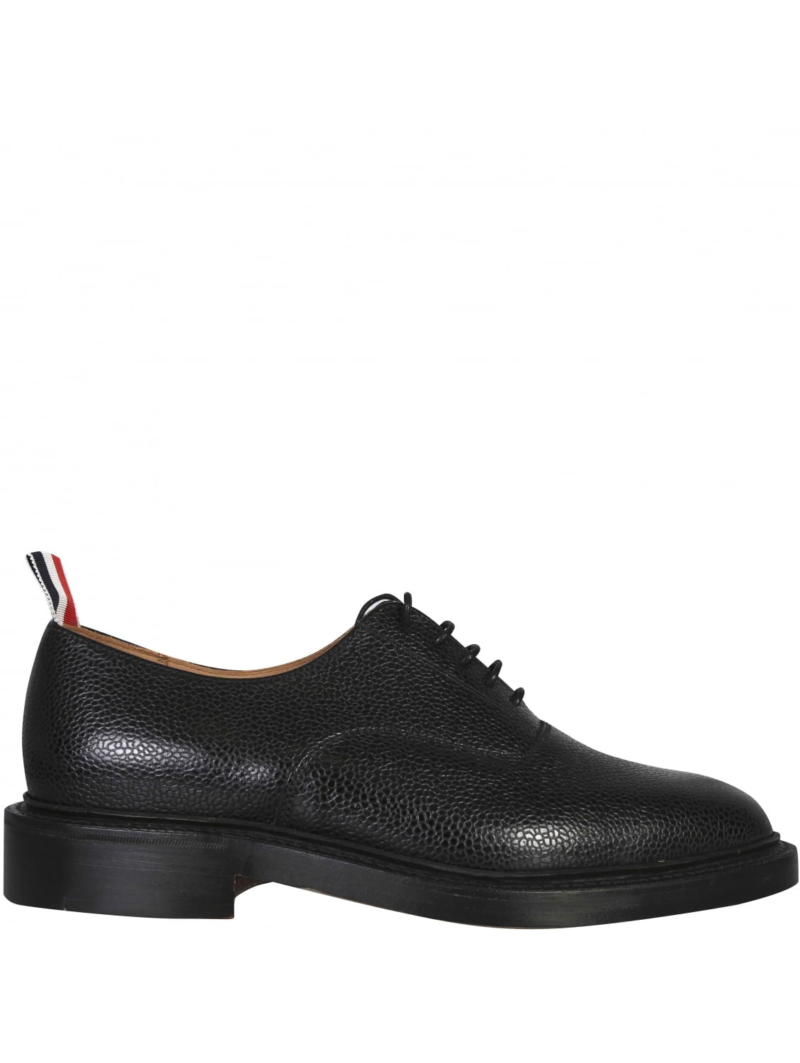 Thom Borwne Smooth Gloss Leather Derby Shoes Black