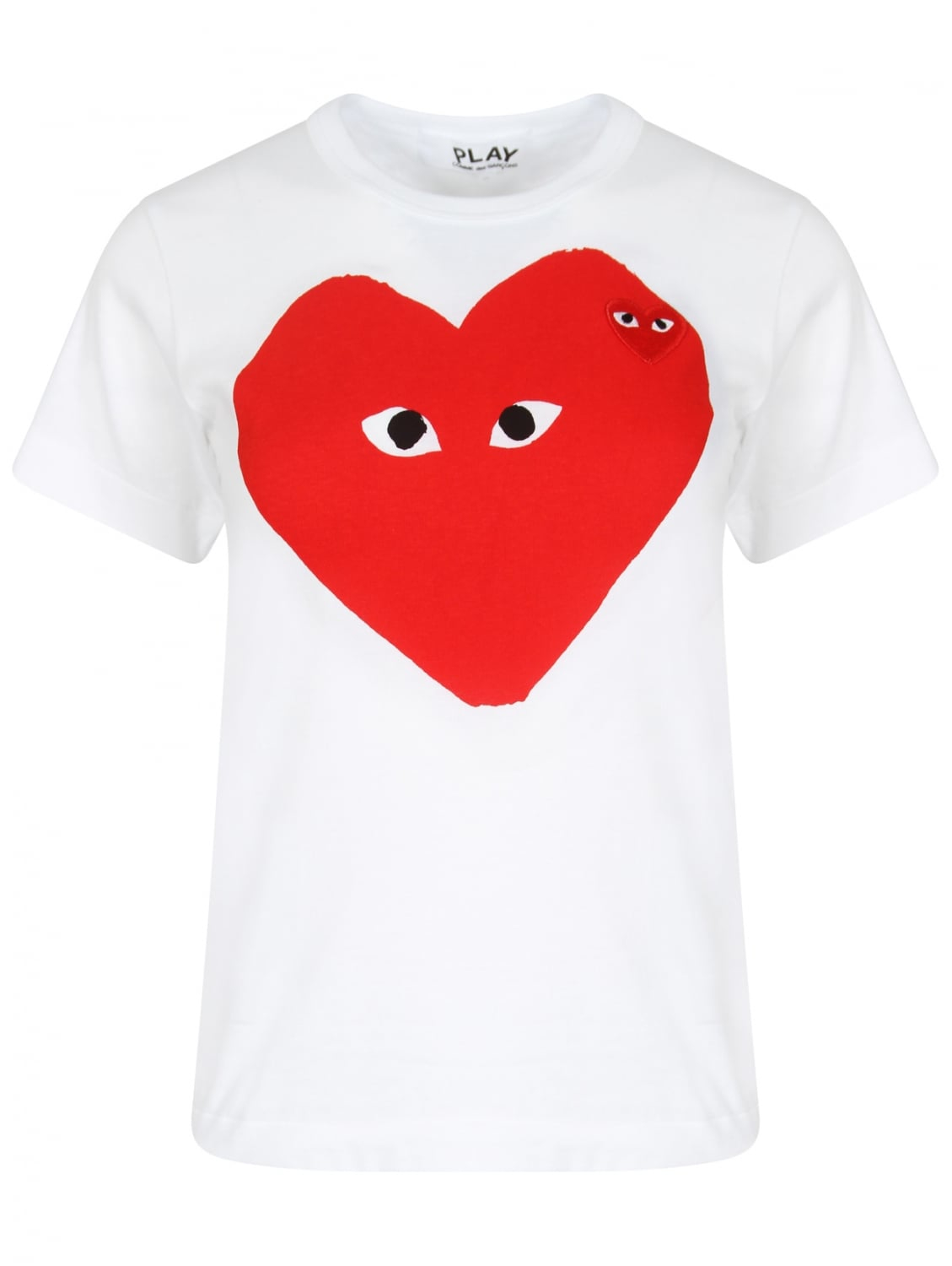 Comme des garçons Play Women's Big Red Heart T-shirt White in Red   Lyst