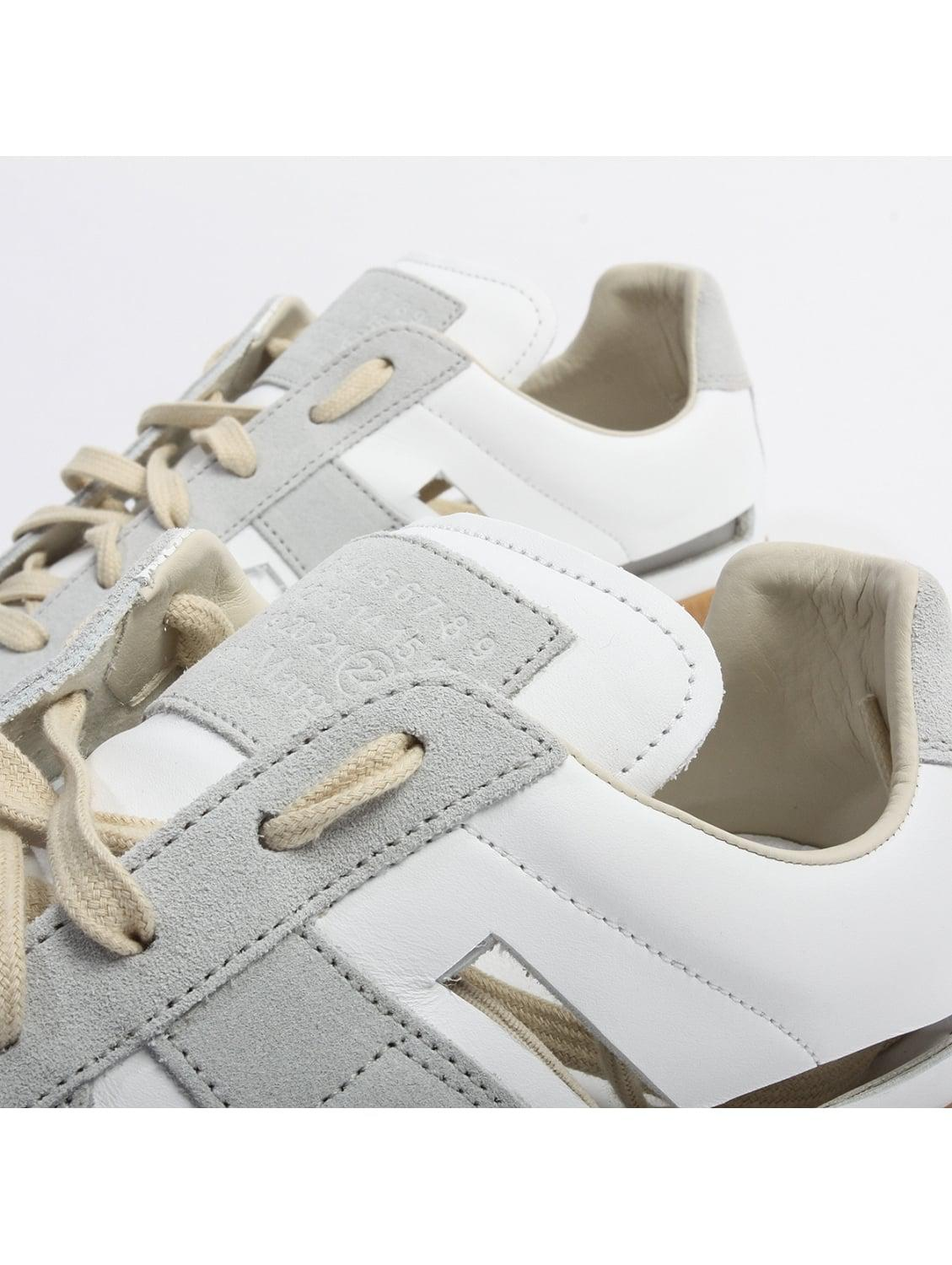 Maison Margiela Suede Cut Out Replica Sneakers White/grey