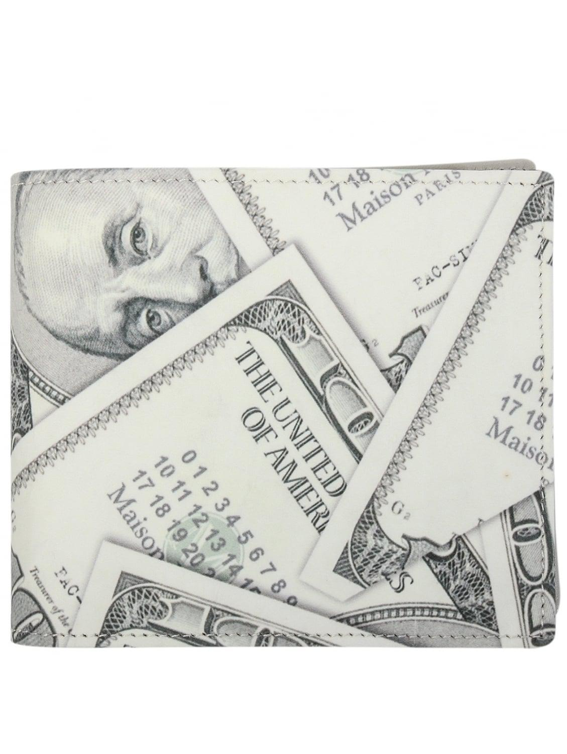 549f0dc9b03f27 Maison Margiela Dollar Print Bi Fold Wallet Off White In For. Maison  Margiela 11 Bills Money Wallet Size One
