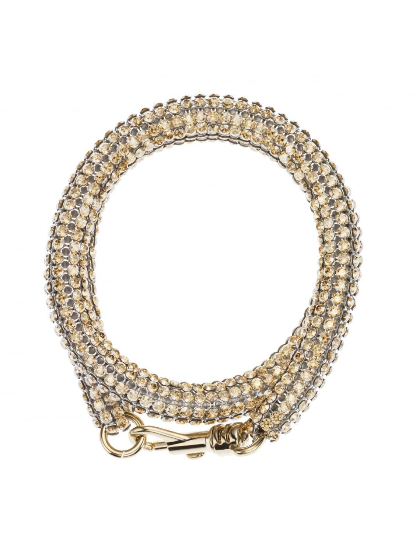 Slim Double Bolster Bracelet Gold