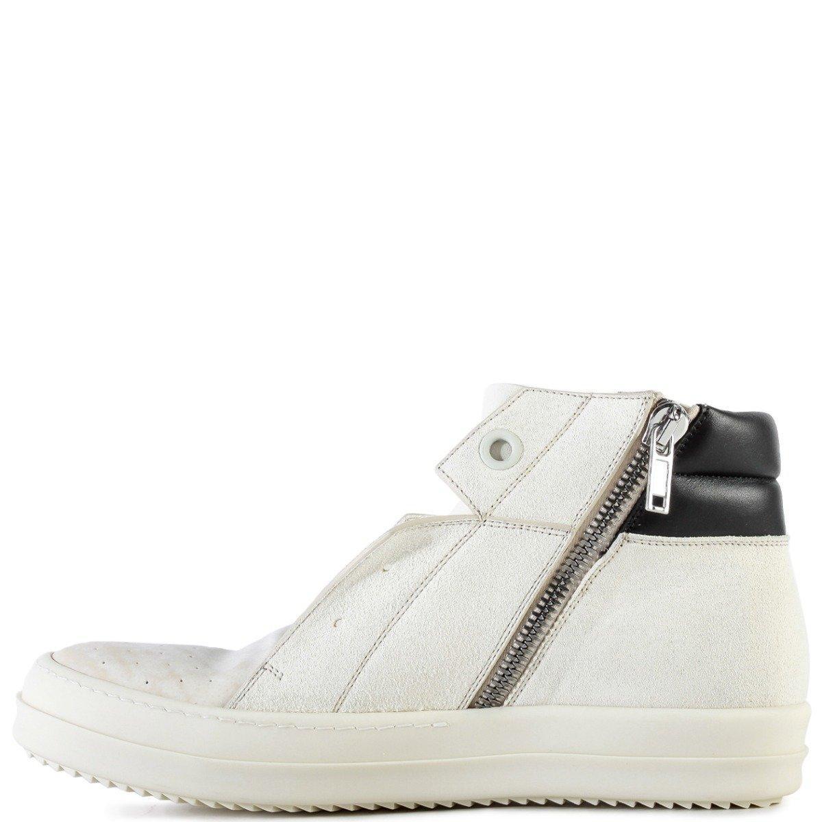 Dunk Island Australia: Rick Owens Leather Island Dunk Sneakers Milk/black