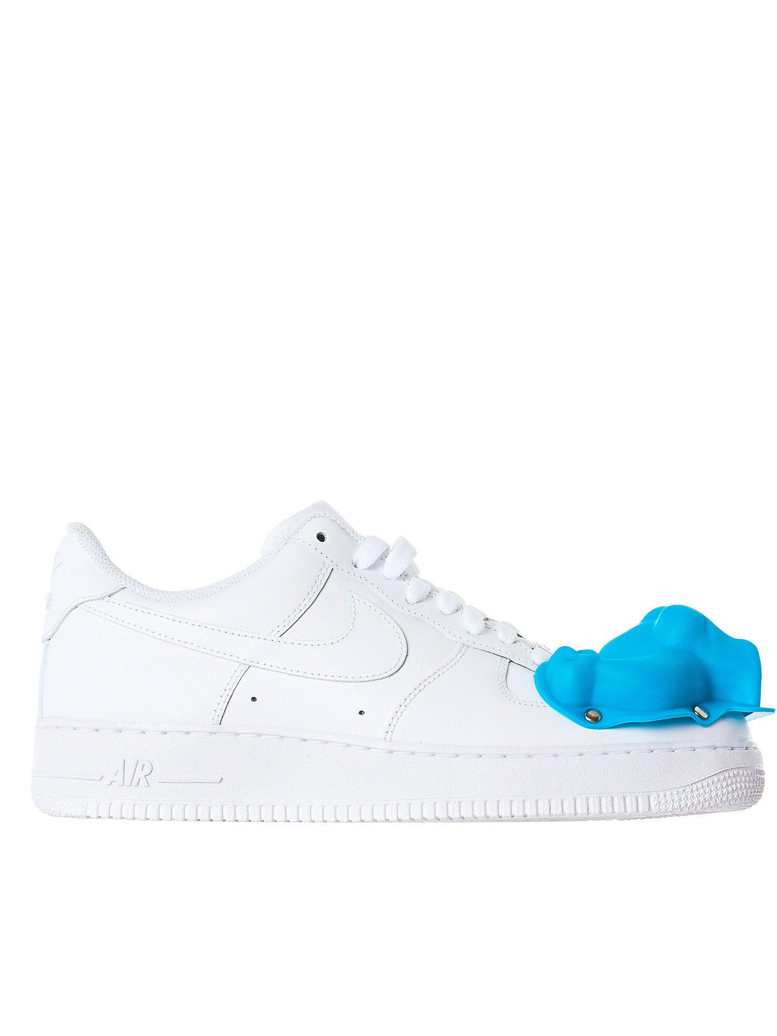 factory authentic 7c4aa ae46b Comme des Garçons Blue Nike Moulded Dinosaur Air Force 1 Sneakers