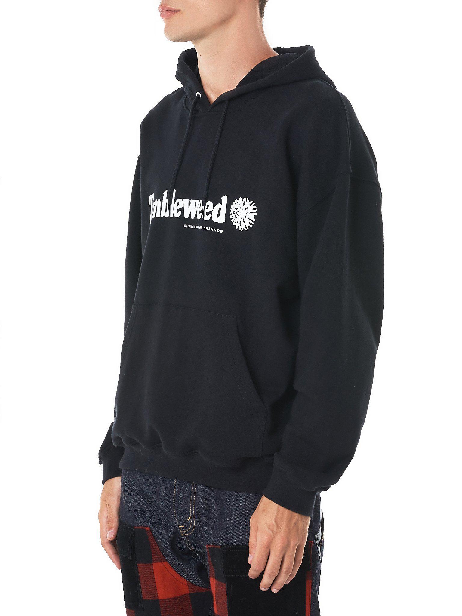 15752656253 Lyst - Christopher Shannon  tumbleweed  Hooded Sweatshirt in Black for Men