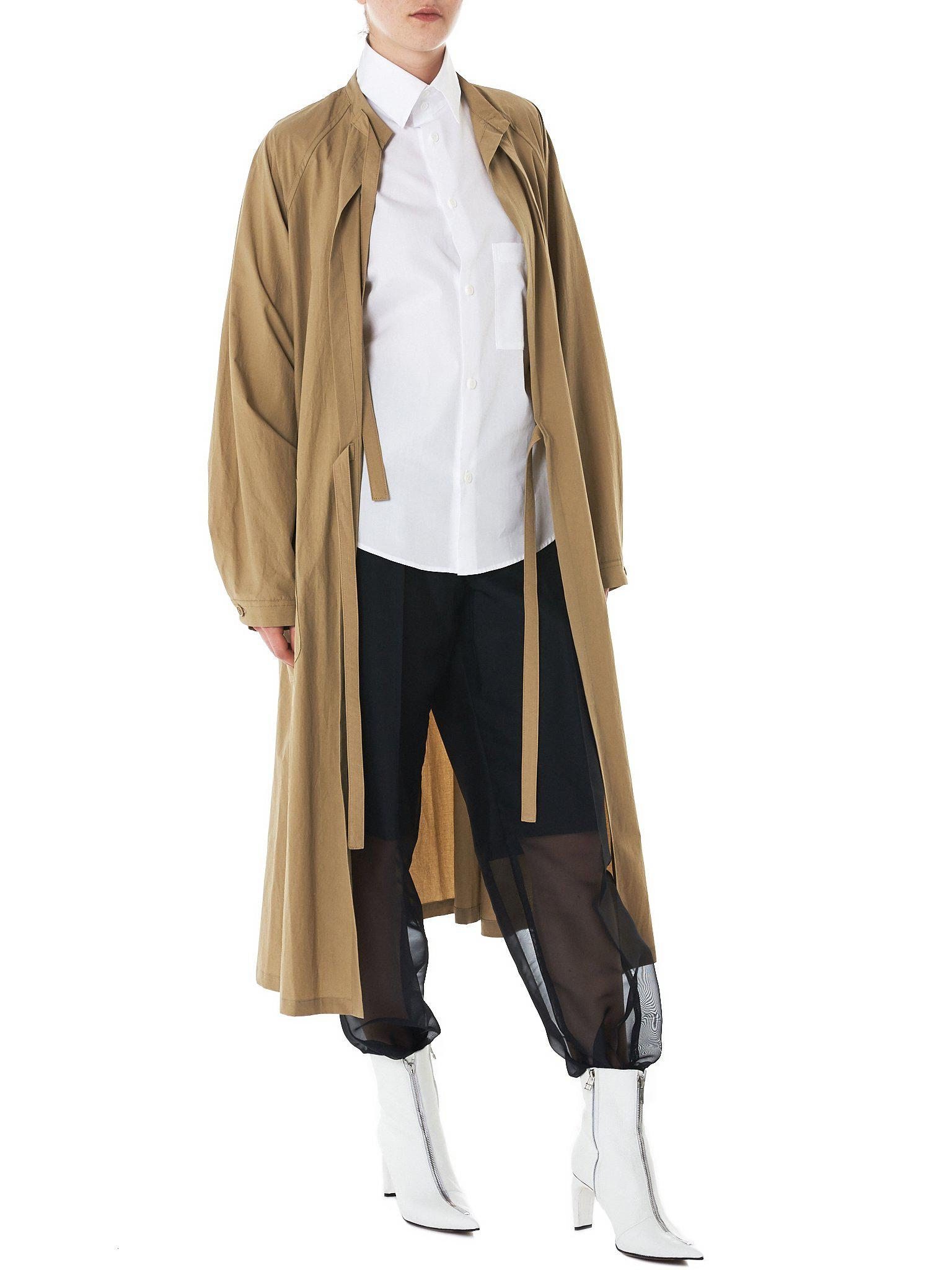 Lyst - Y\'S Yohji Yamamoto Surgical Gown Coat in Natural