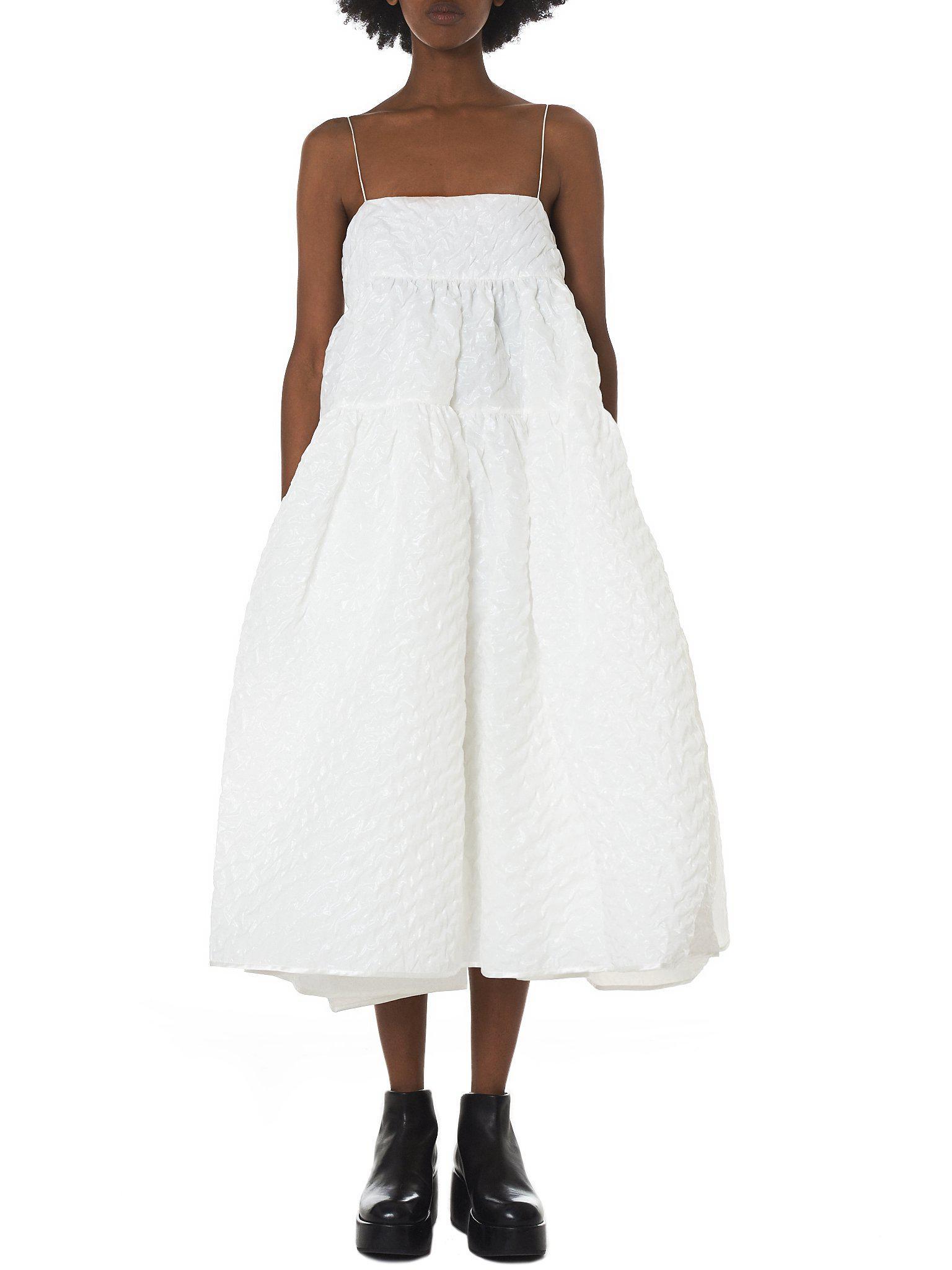 5275eca065e5 Bahnsen Dress White Strap Midi Lyst In  bey  Cecile zSFxwqH5WA