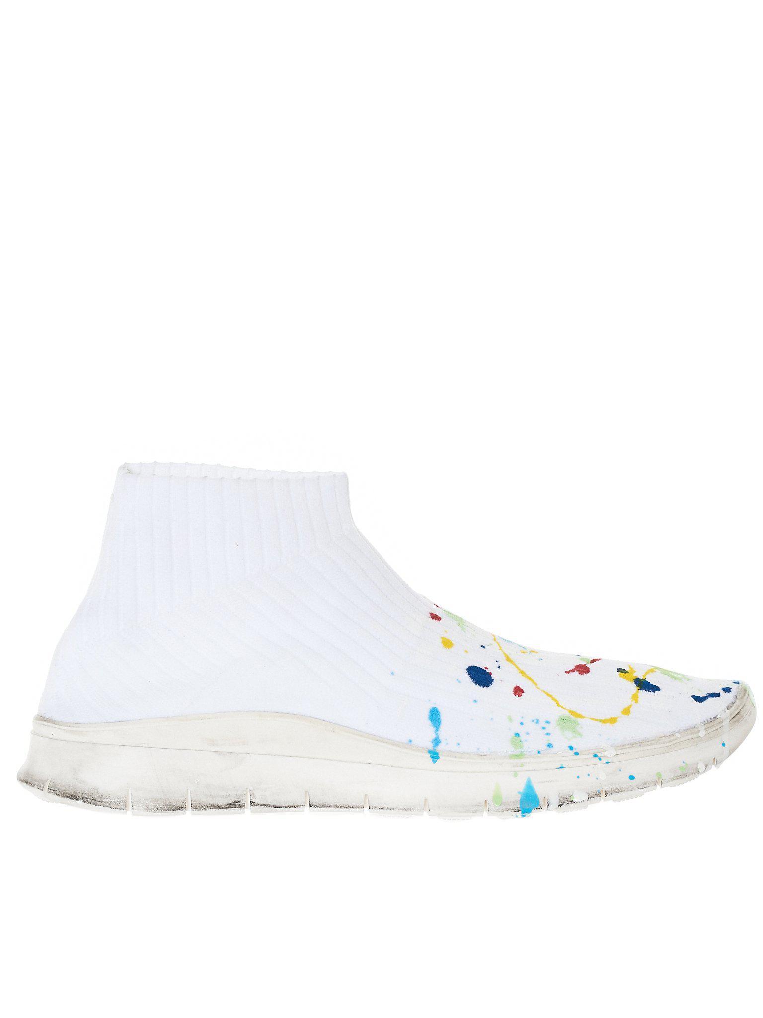 f25be8e10e6a Lyst - Maison Margiela Paint Splatter Sneaker in White for Men