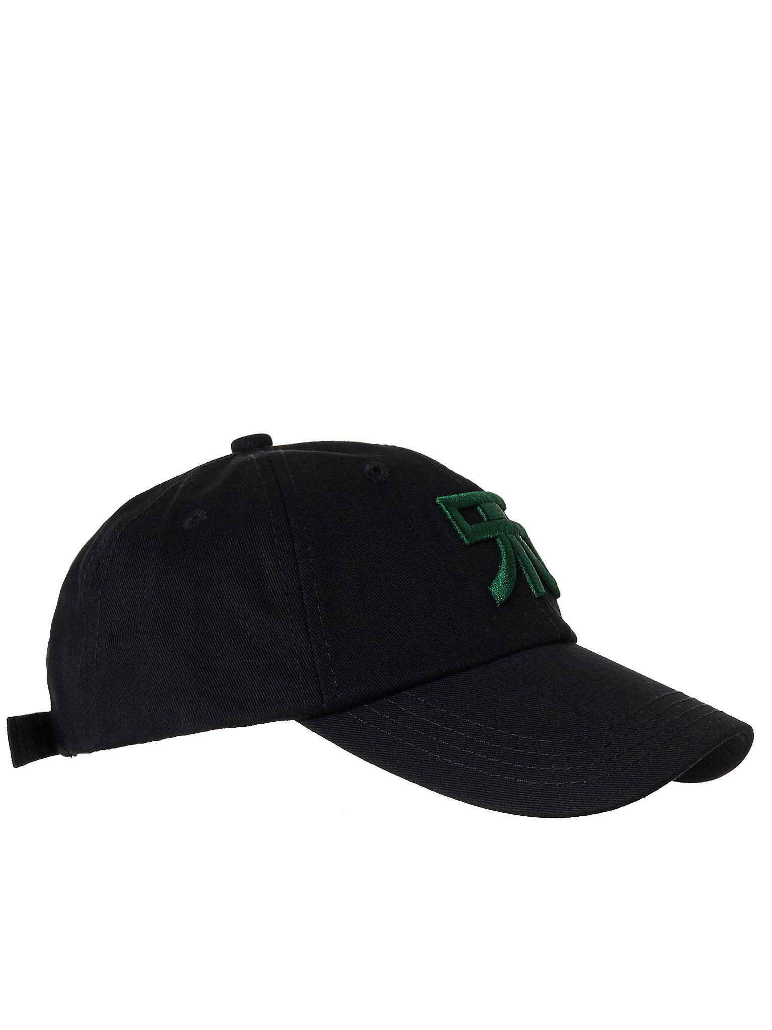 14d3cf1b2d2c6 Lyst - Raf Simons Embroidered Logo Cap in Black for Men