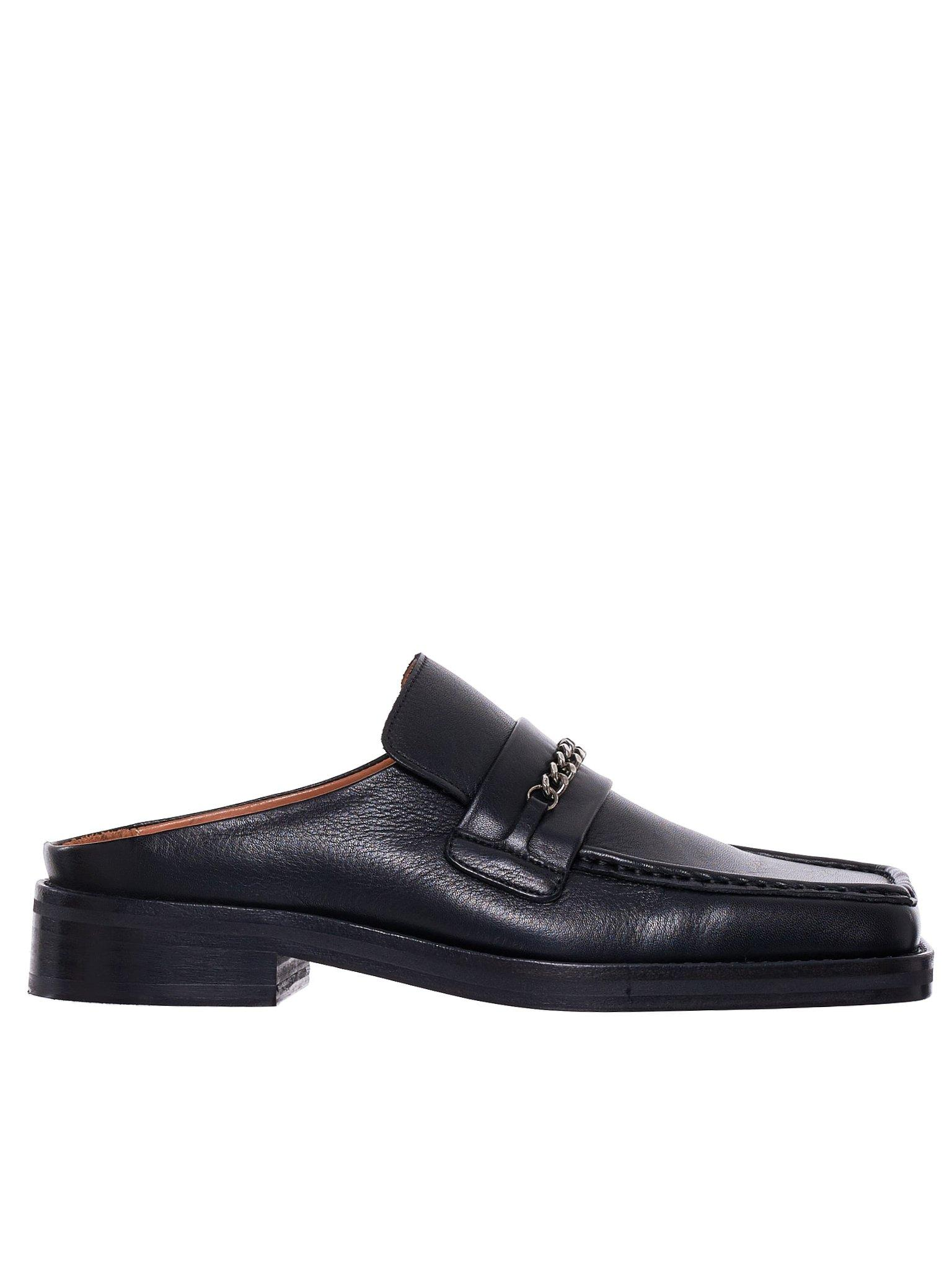 performance sportswear classic fit special section Martine Rose Leather Open Back Loafers in Black for Men - Save 36 ...