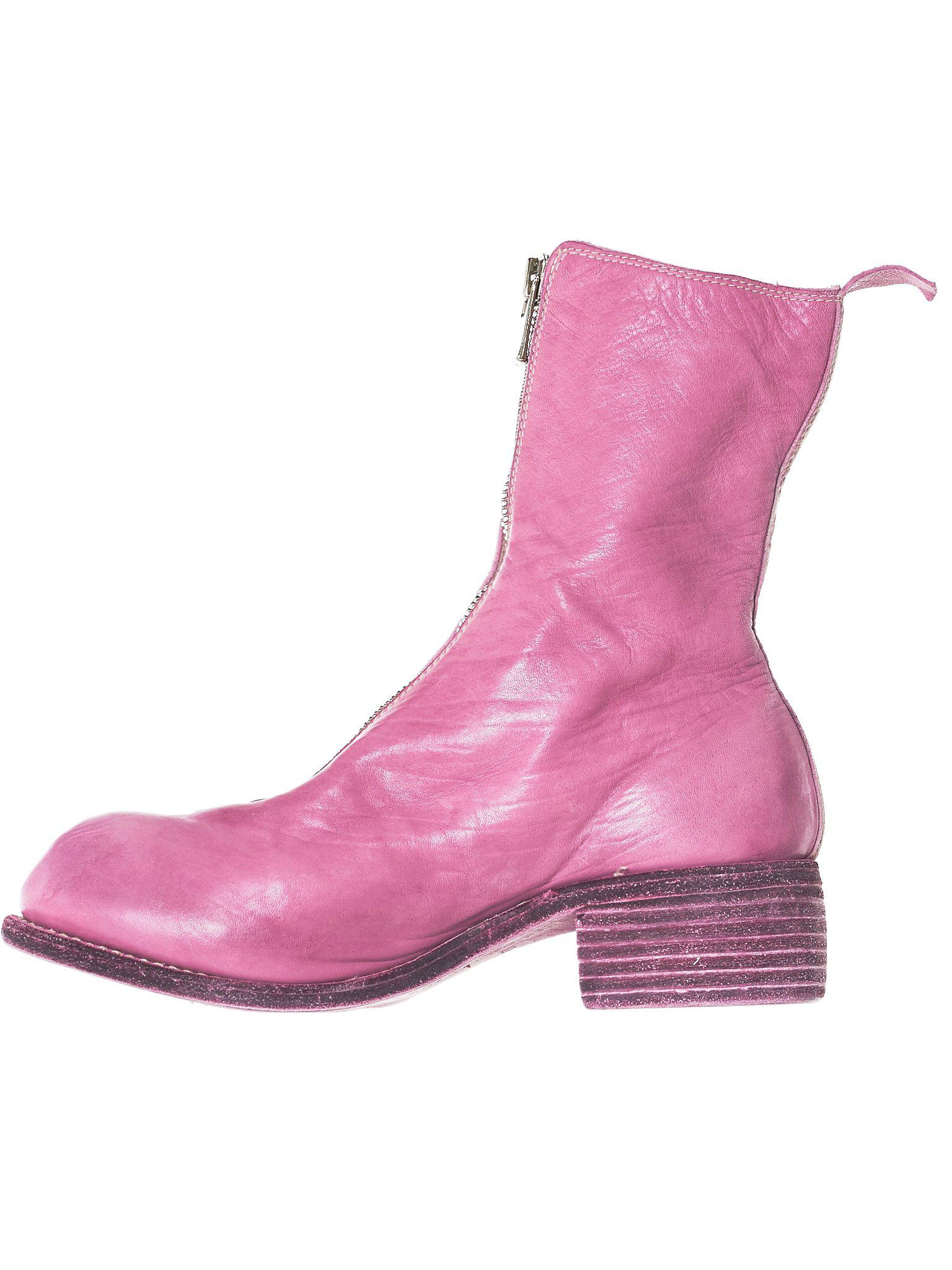 Guidi Pink X H  Lorenzo Zip Leather Boots
