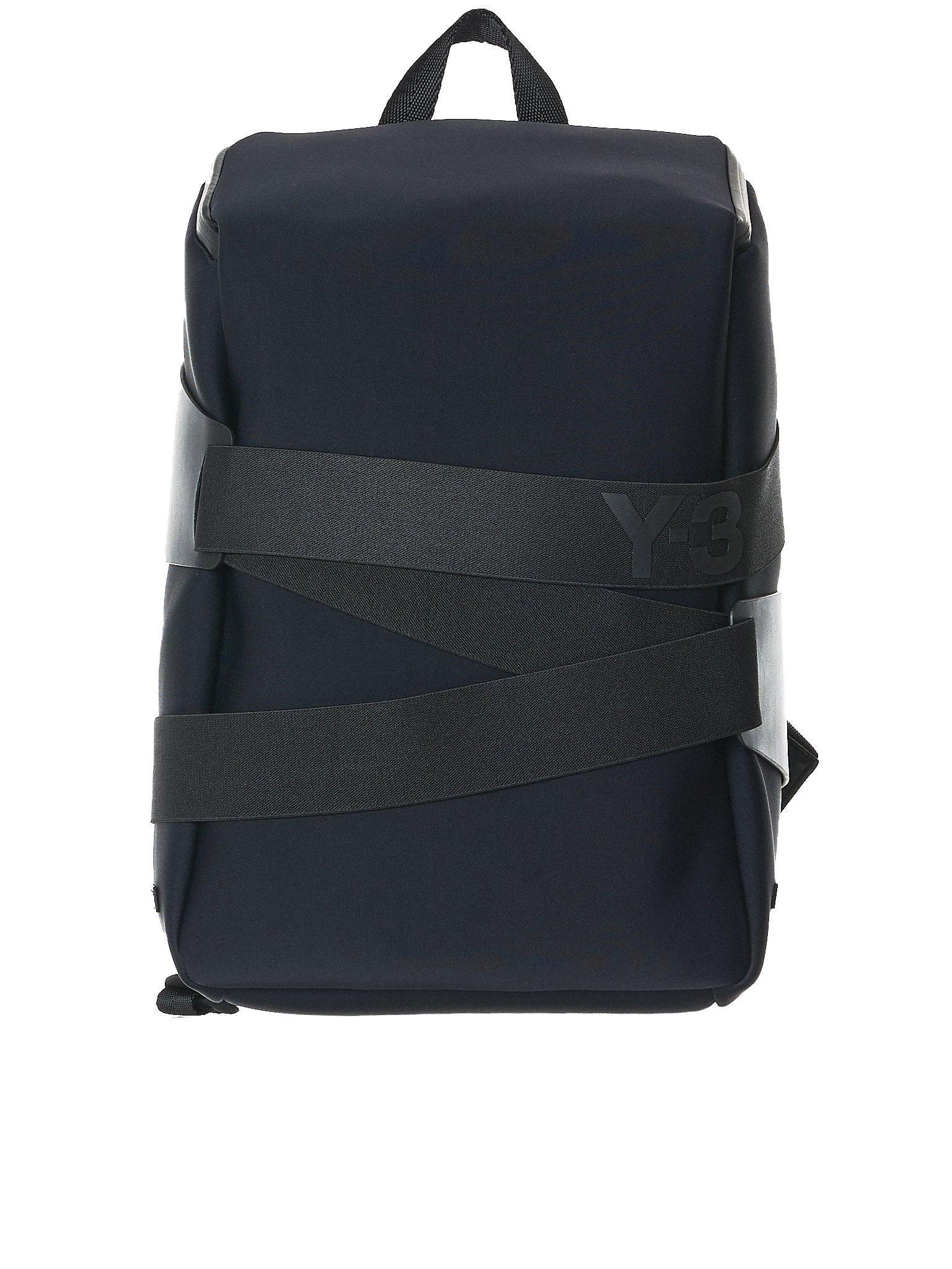 Lyst - Y-3 Strapped Neoprene Backpack in Black for Men 5cf115eacf1f7