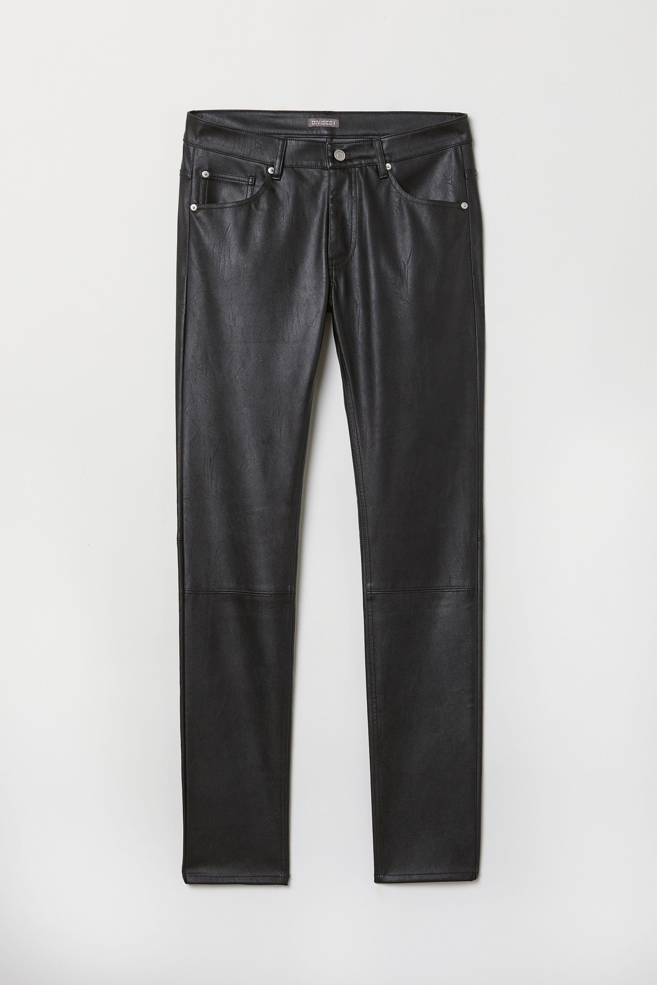 H Amp M Faux Leather Pants In Black For Men Lyst