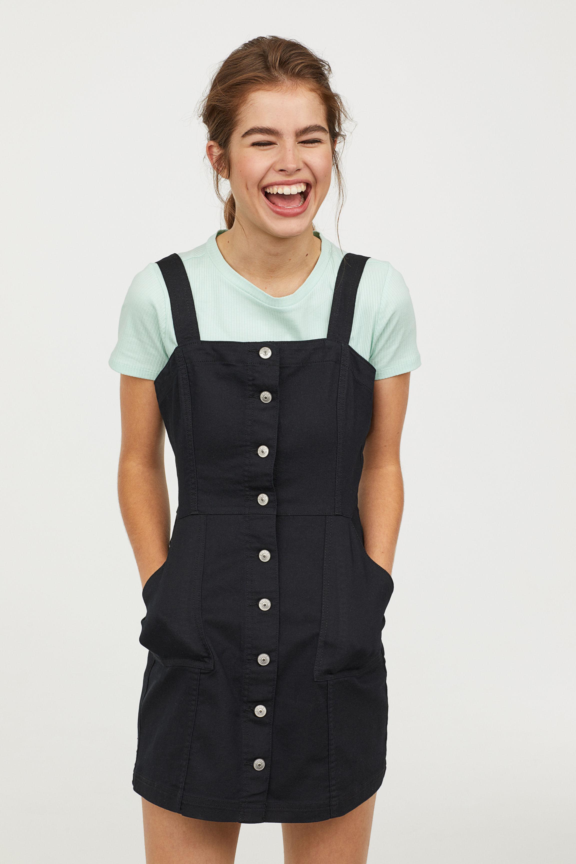 4d7f2d104ba9 Black Denim Pinafore Dress H M - Photo Dress Wallpaper HD AOrg