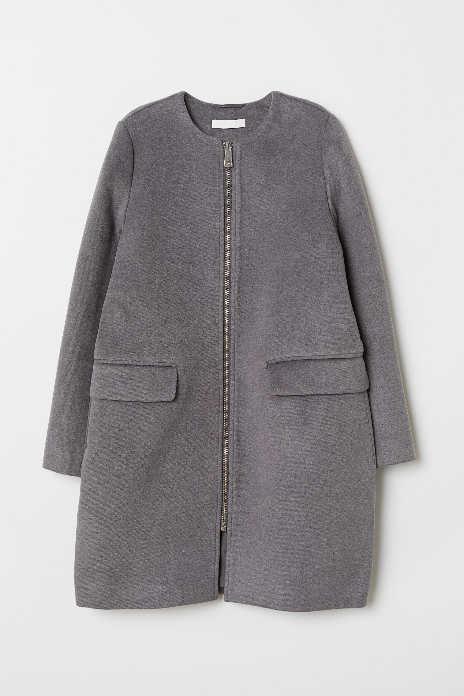 plus de photos 3d662 b864e Manteau court femme de coloris gris