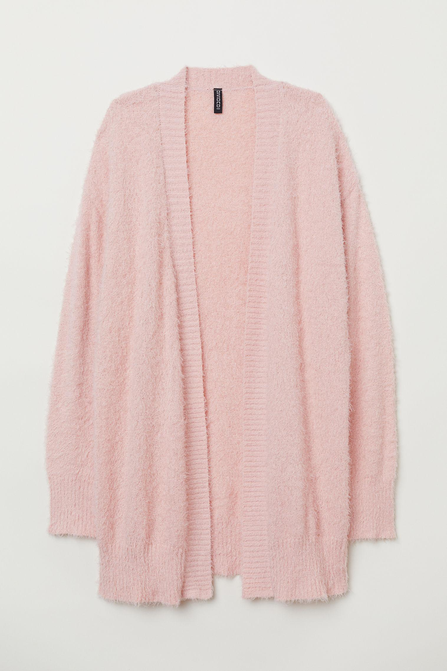 53caa16640525a H&M Flauschiger Cardigan in Pink - Lyst