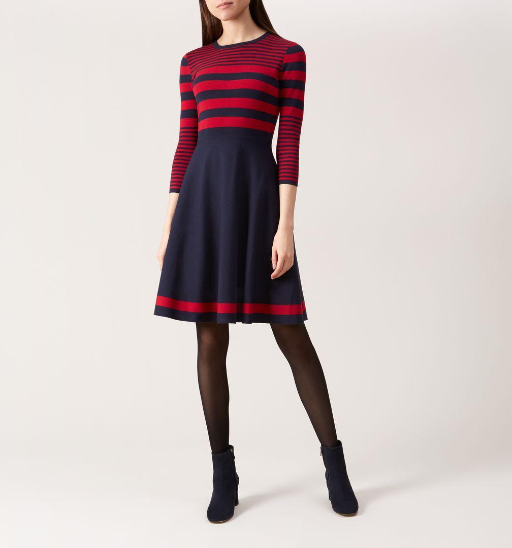 a2716b1e874 Hobbs - Blue Nelly Knitted Dress - Lyst. View fullscreen