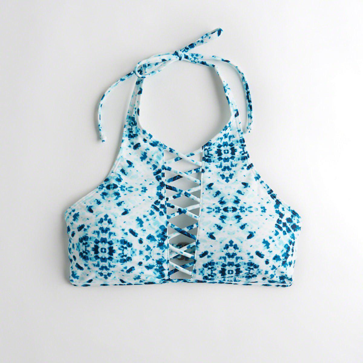 cab6e93e42169a Hollister. Women s Blue Girls Strappy Halter High-neck Bikini Top From  Hollister