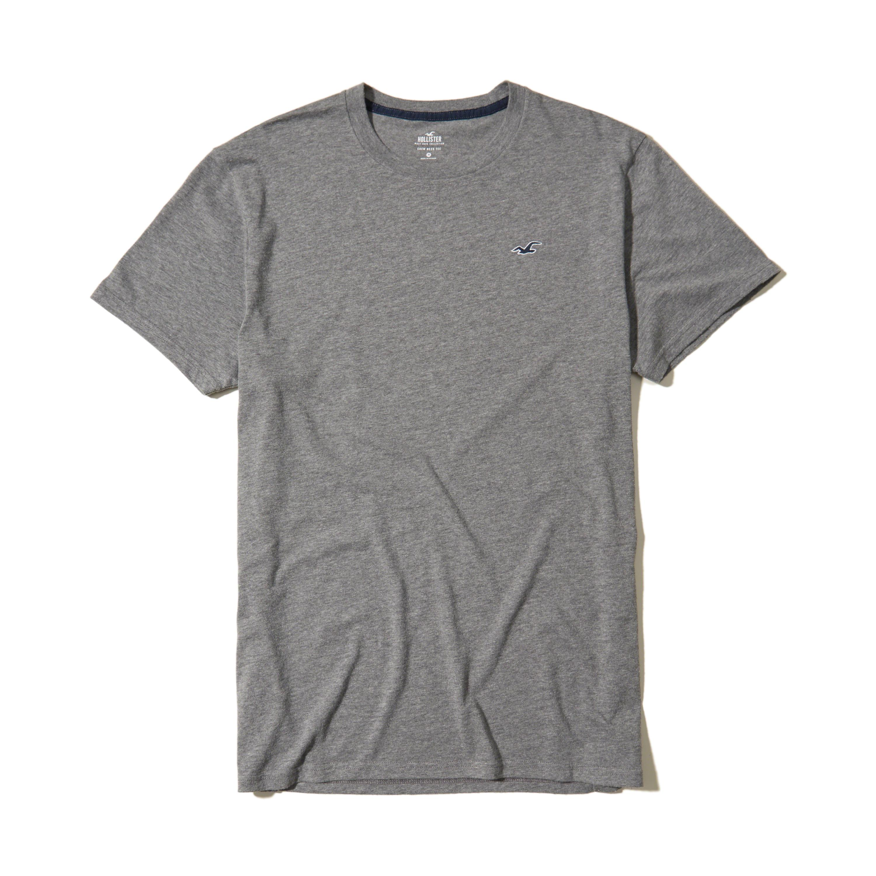 Lyst hollister must have crew t shirt in gray for men for Must have dress shirts