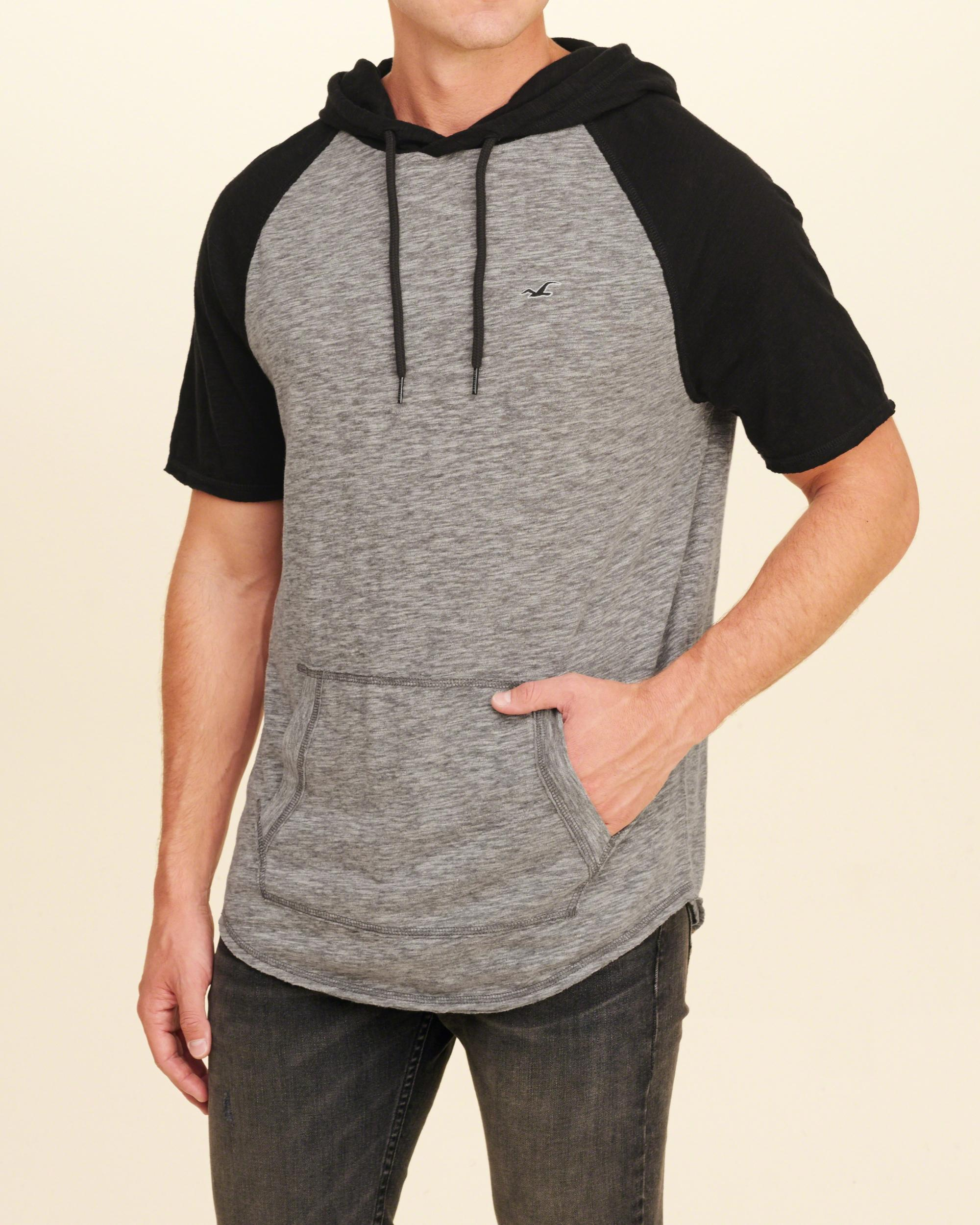 Lyst hollister must have hooded t shirt in gray for men for Must have dress shirts