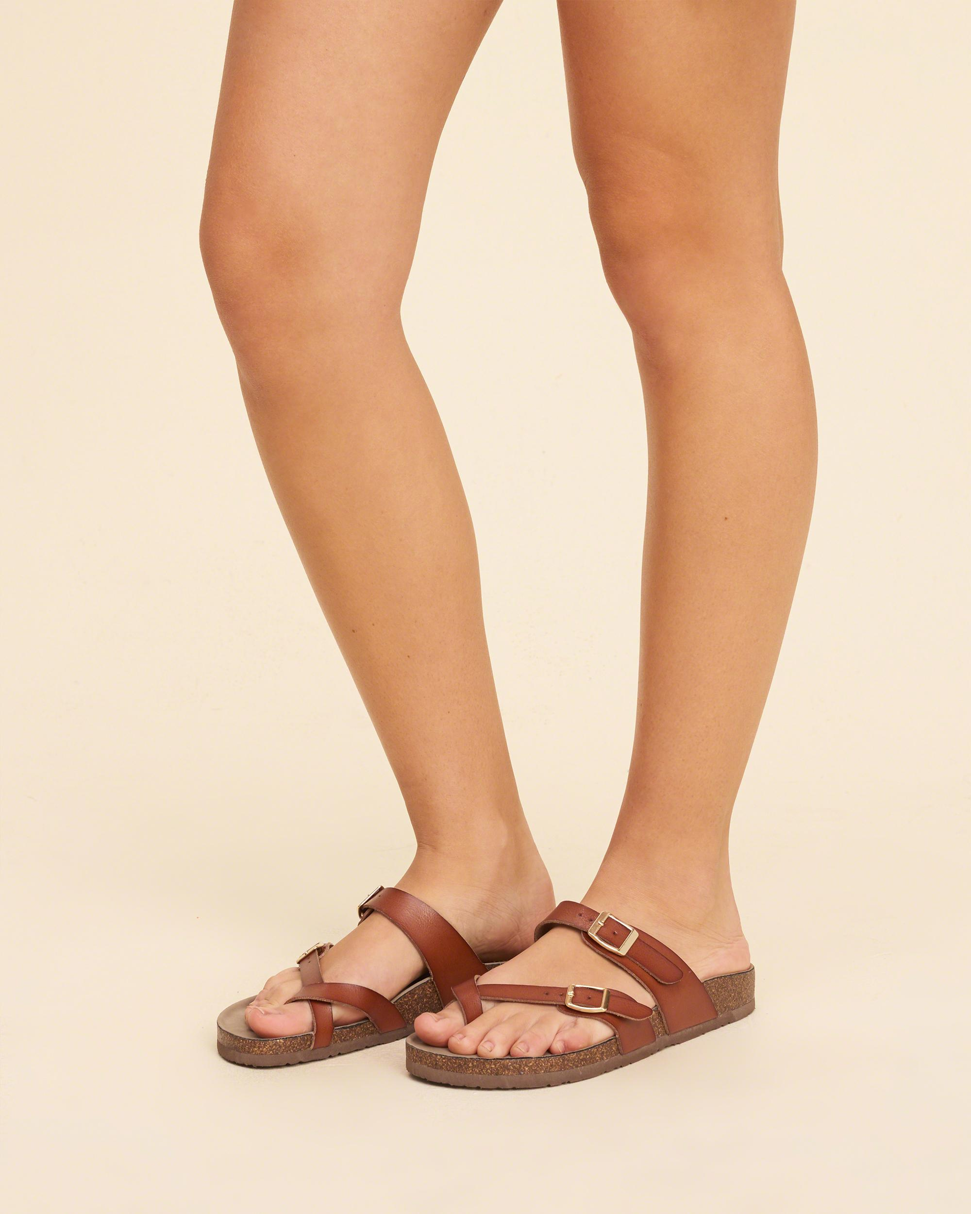 01e53c7ab829 Hollister Madden Girl Bryceee Sandal in Brown - Lyst