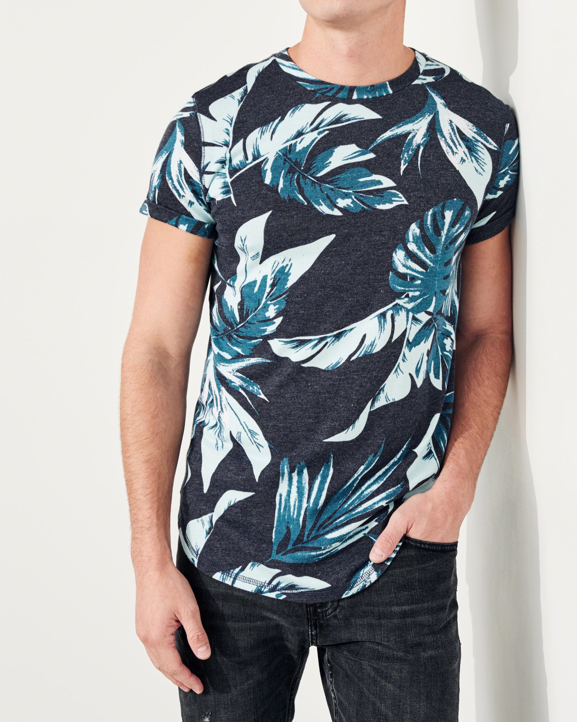 Lyst hollister must have curved hem t shirt in blue for men for Must have dress shirts