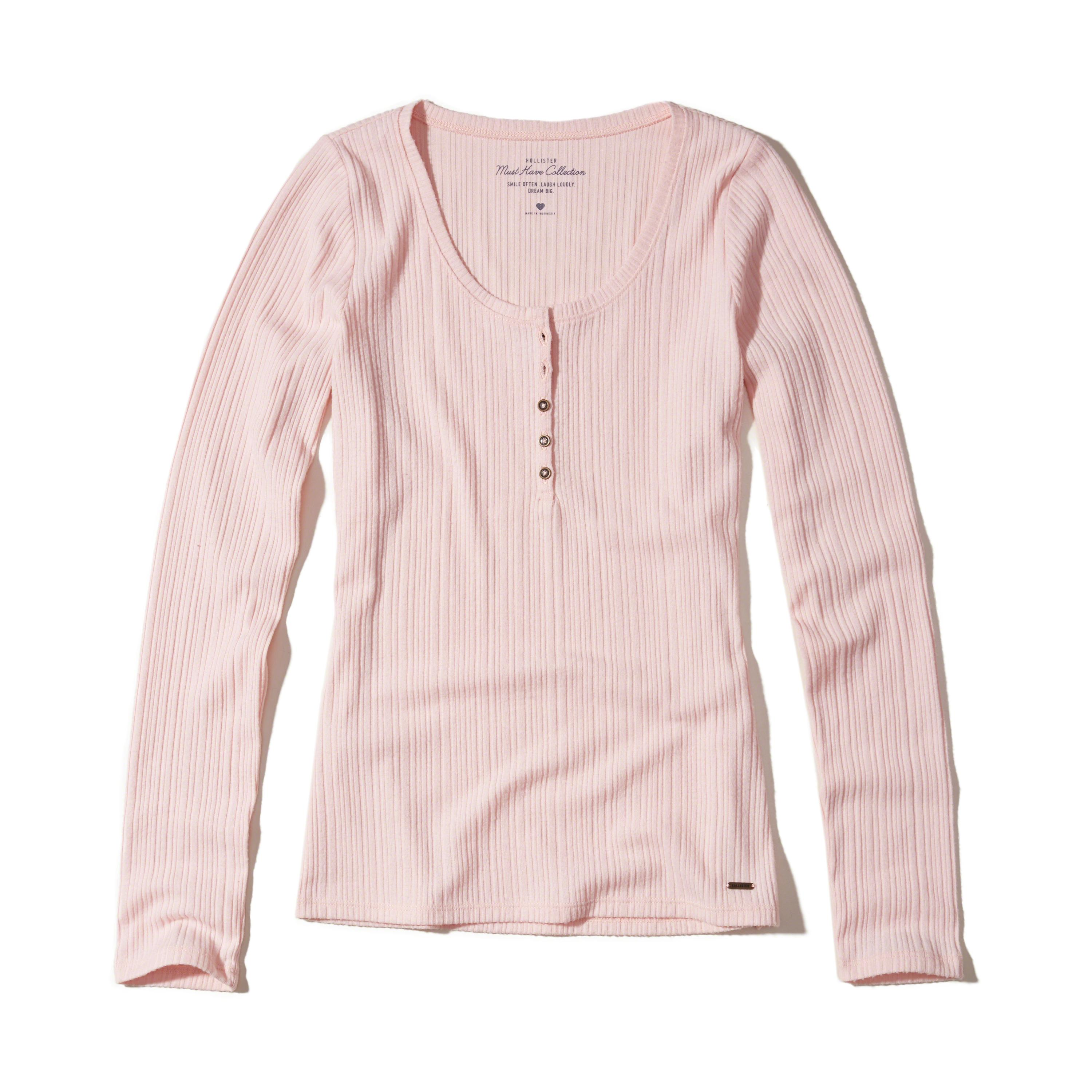 Lyst hollister must have henley t shirt in pink for Must have dress shirts