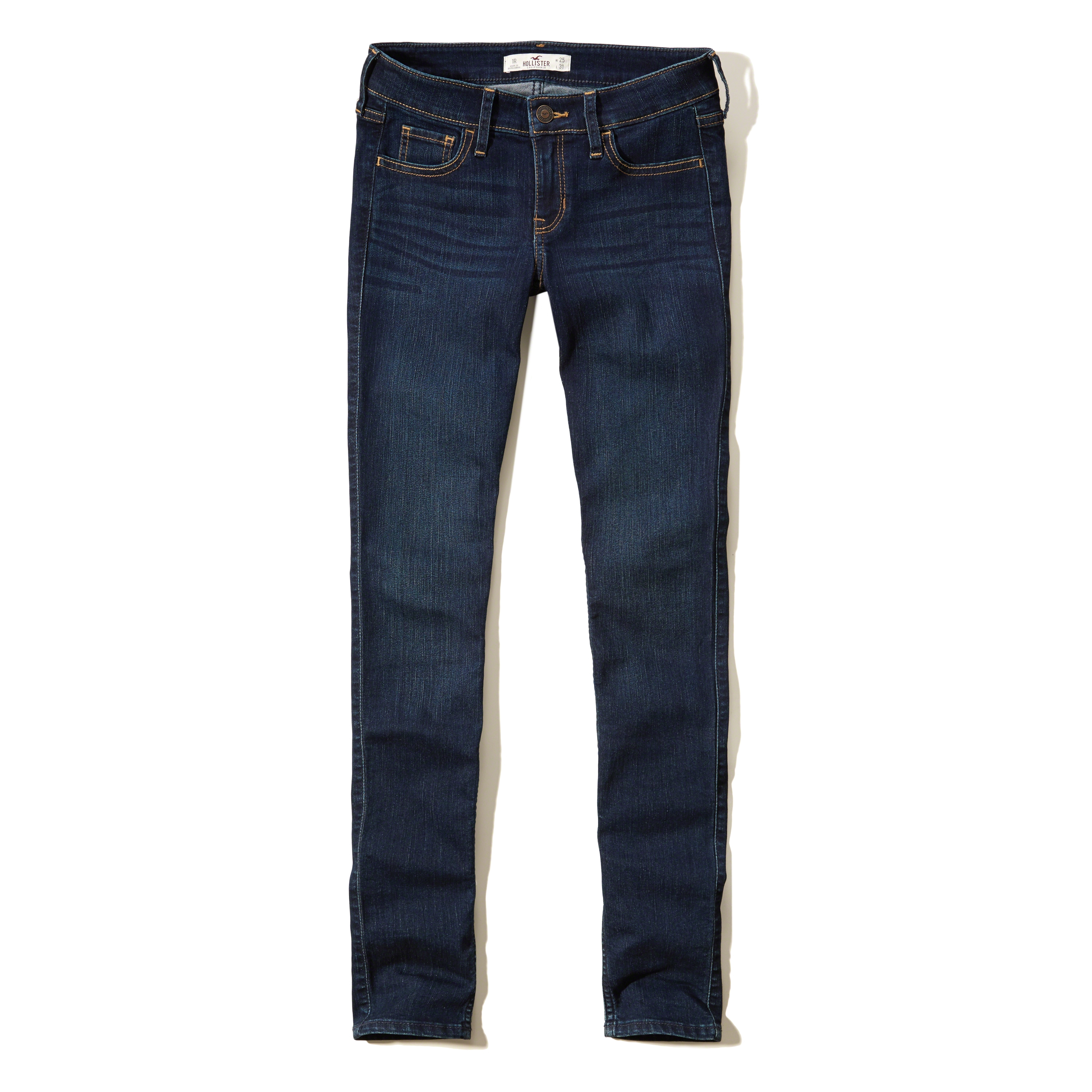 Hollister Low-rise Super Skinny Jeans in Blue | Lyst