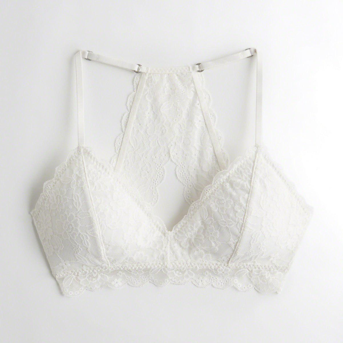 299b6c7949e83 Hollister. Women s White Girls Racerback Triangle Bralette With Removable  Pads From Hollister