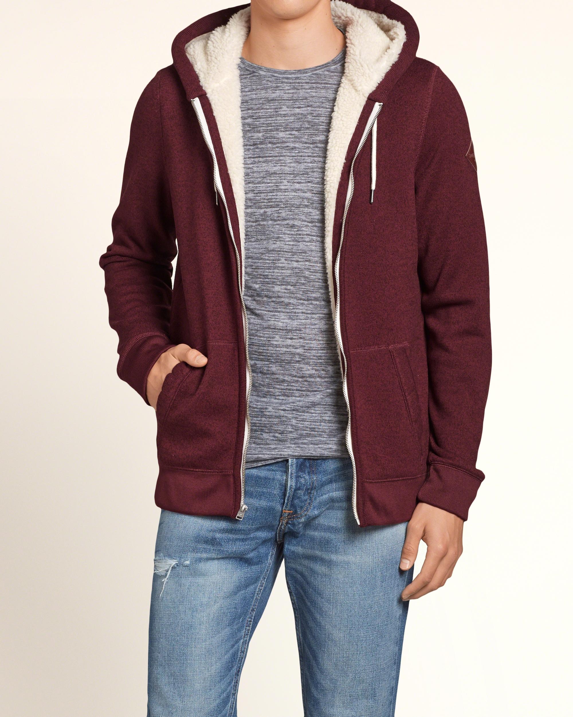 Hollister Oberbekleidung Returns Exchanges Hollister Pullover Hollister Hoodies Hollister Jeans: Hollister Sherpa Lined Hoodie For Men