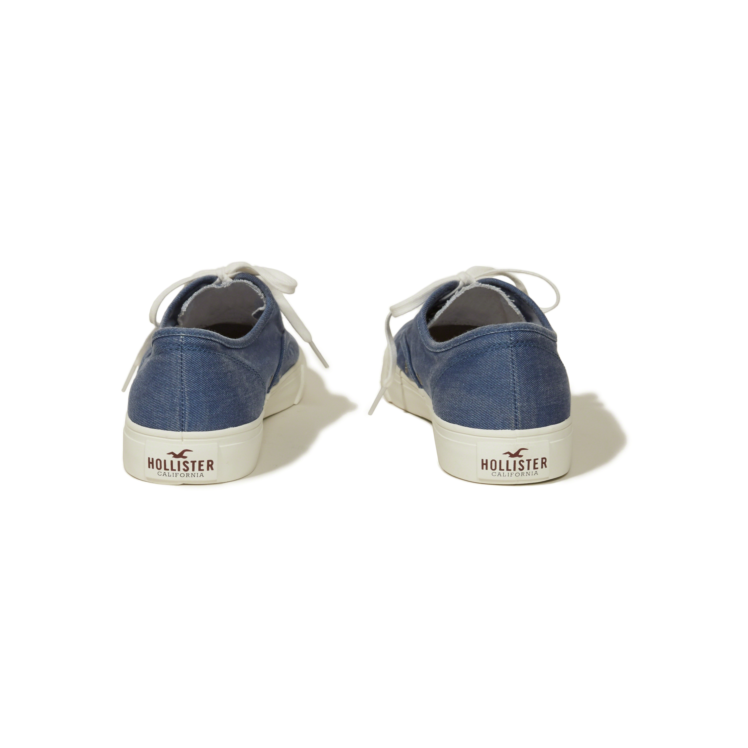 Hollister Rubber Lace Up Sneakers in Blue