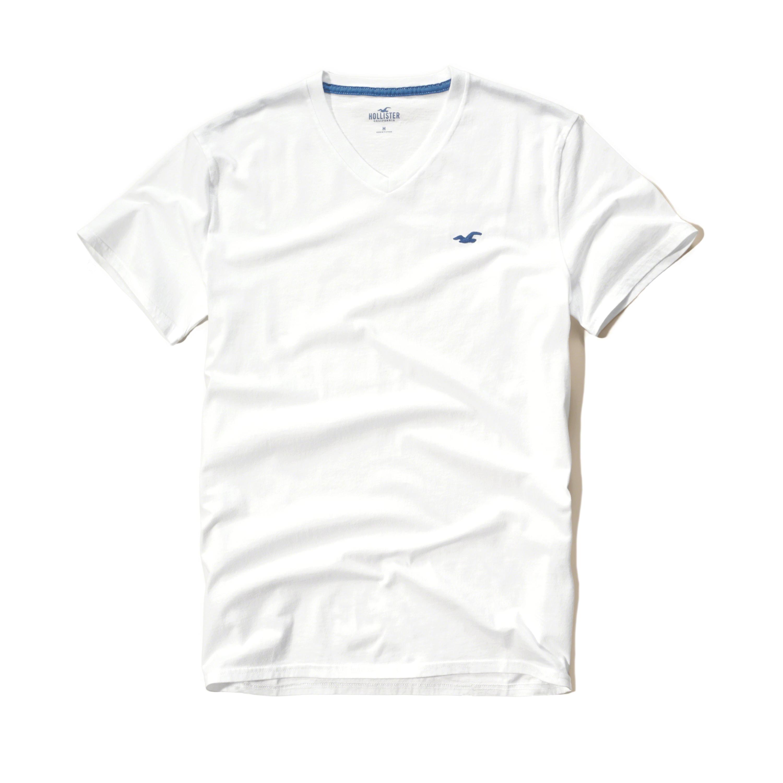 Hollister V Neck T Shirt In White For Men Lyst