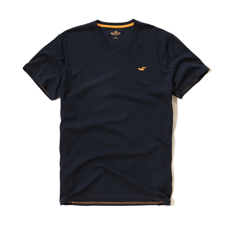 Hollister V Neck T-shirt in Black for Men | Lyst