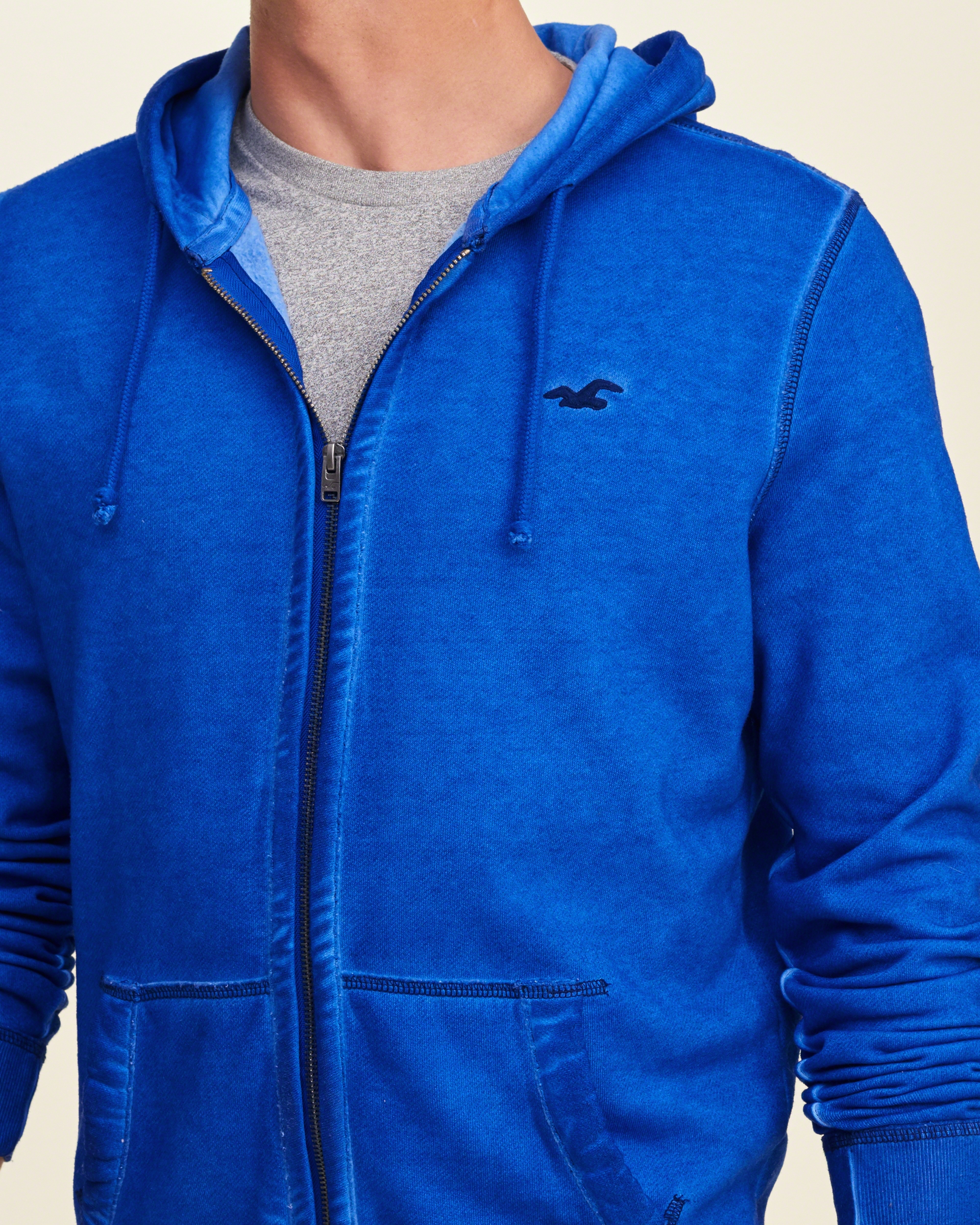 Hollister Sweaters Hollister Hoodies Hollister Shirts Hollister Jacket Hollister Pants Hollister Jeans: Hollister Iconic Dyed Hoodie In Blue For Men