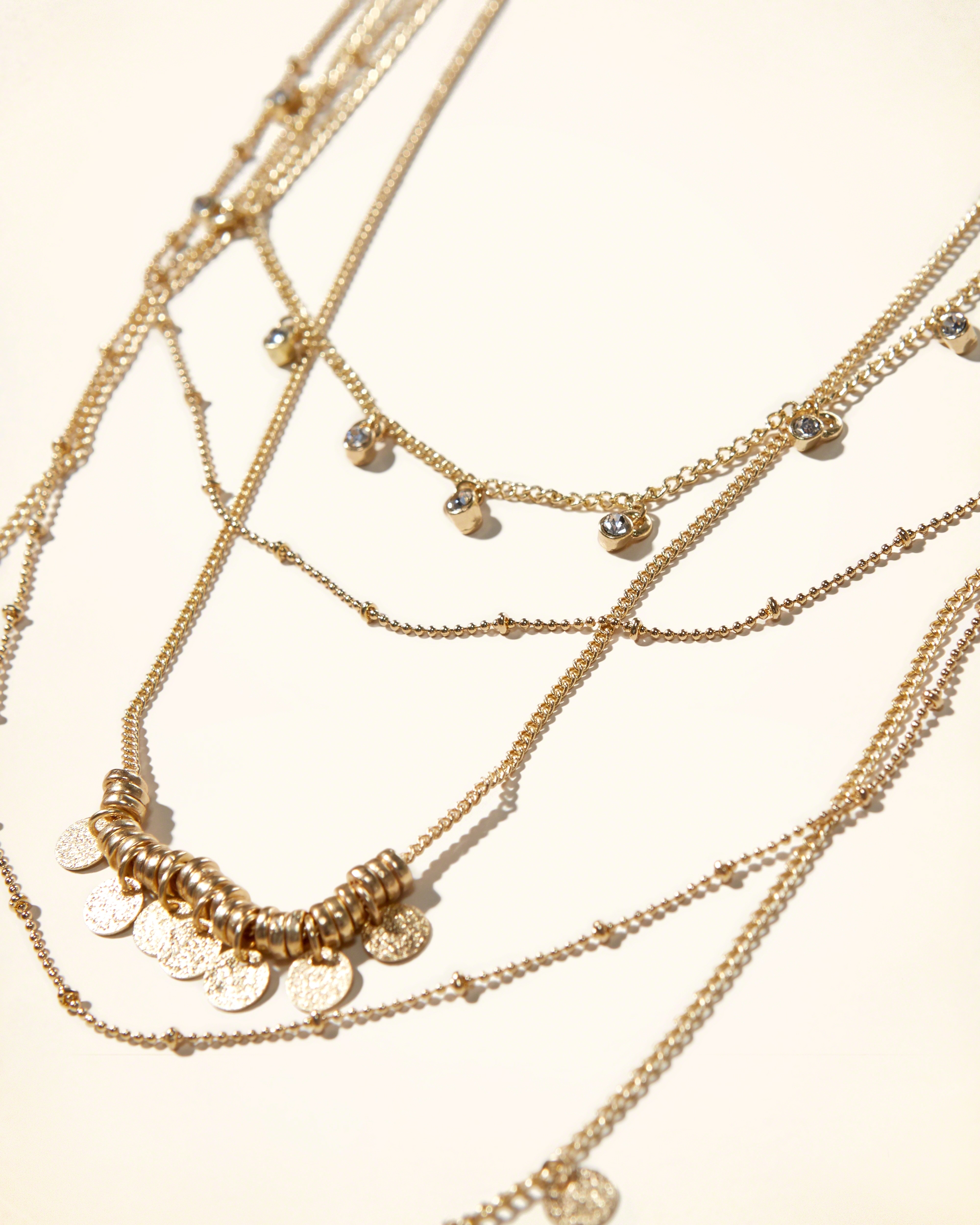 Hollister Shine Embellished Layer Necklace in Gold (Metallic)