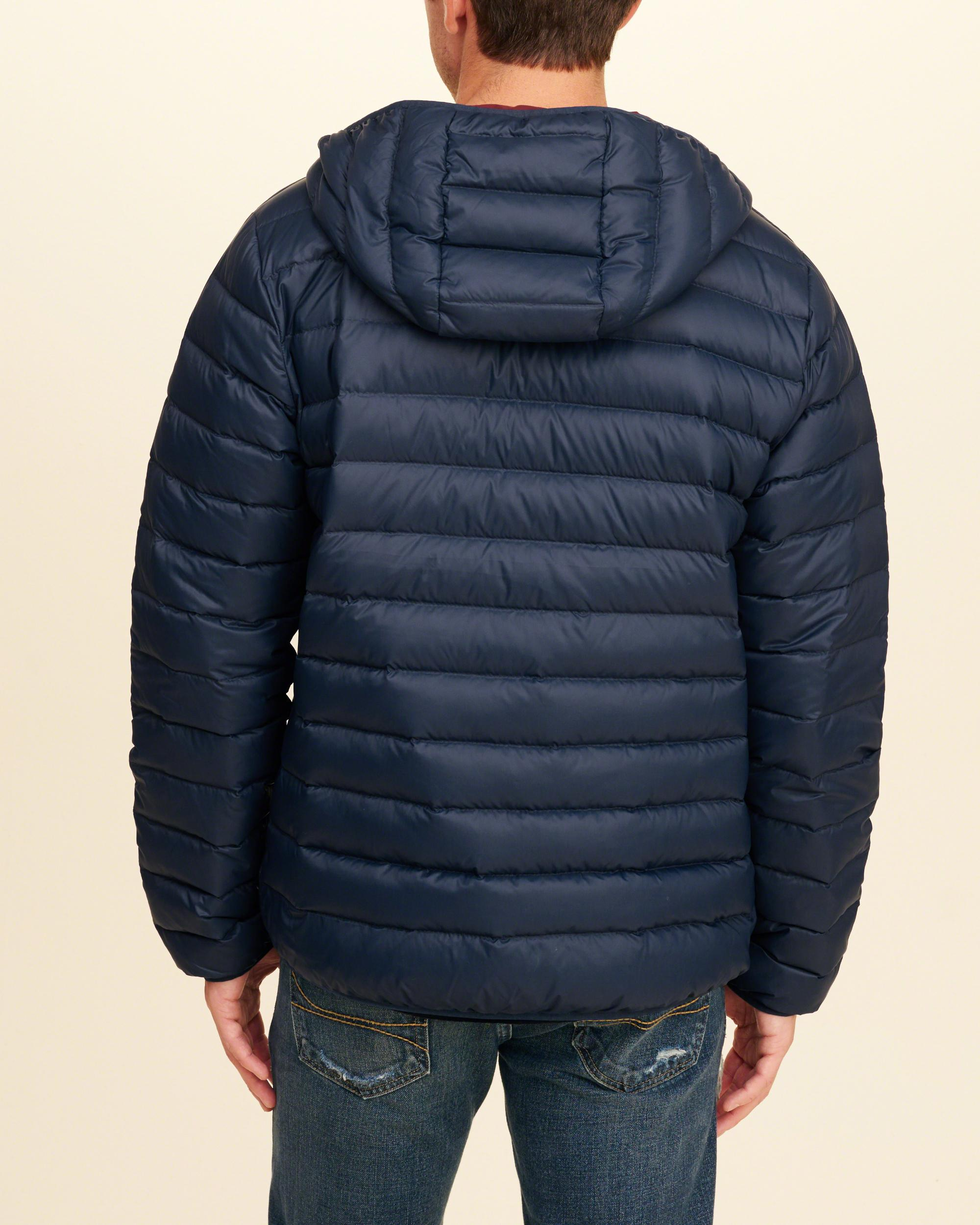 Hollister Synthetic Guys Lightweight Down Puffer Jacket From Hollister in Navy (Blue) for Men