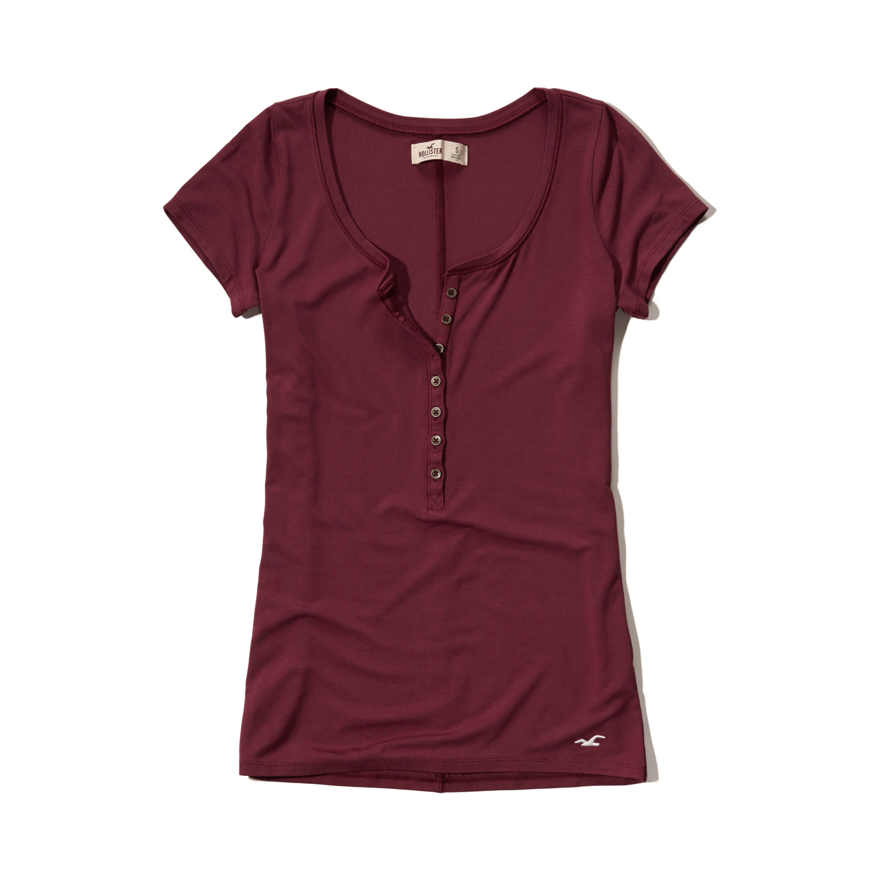Lyst hollister must have slim henley in red for Must have dress shirts