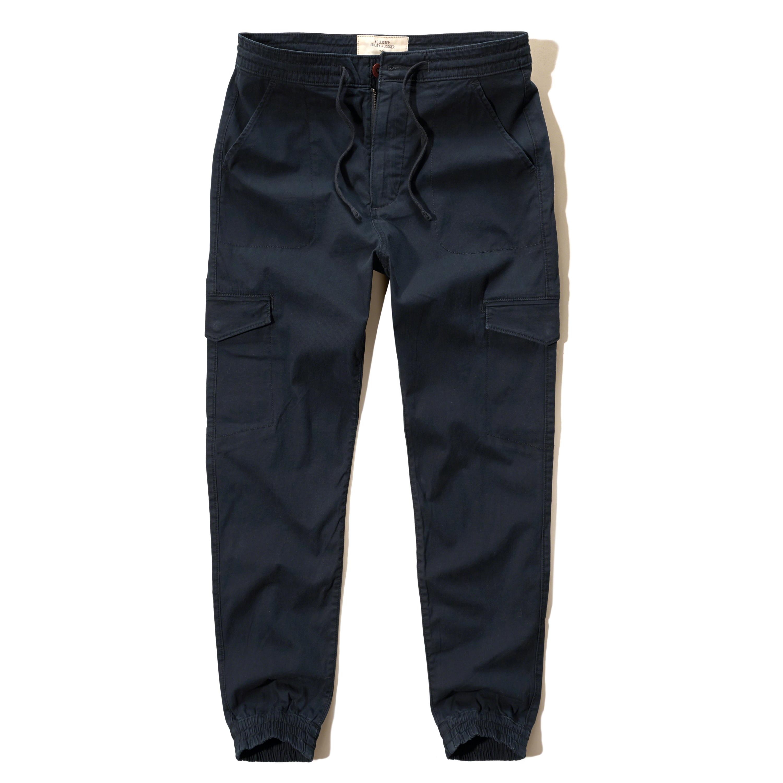 Hollister Utility Jogger Pants in Black for Men | Lyst