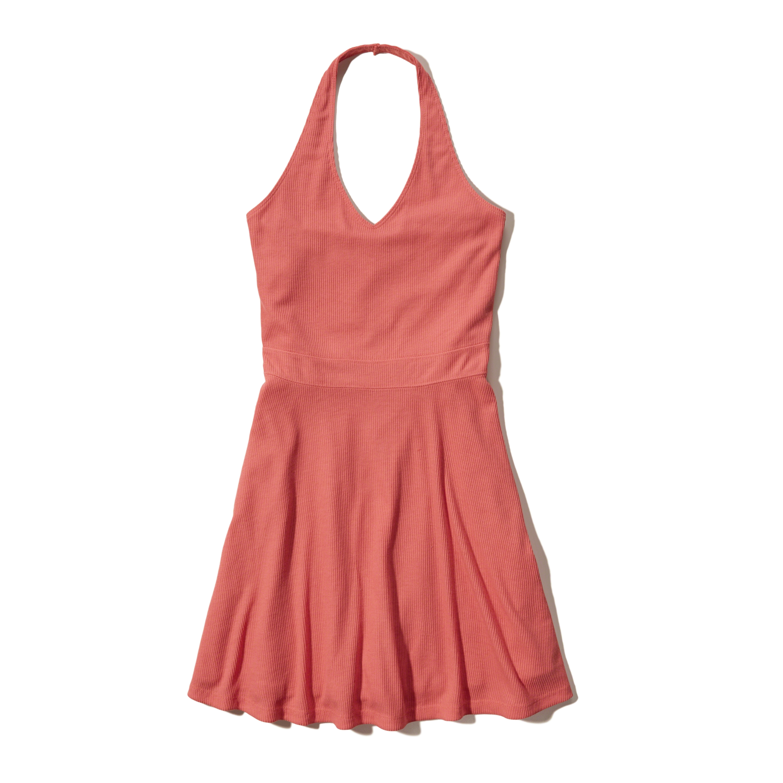 hollister knit halter dress in red lyst