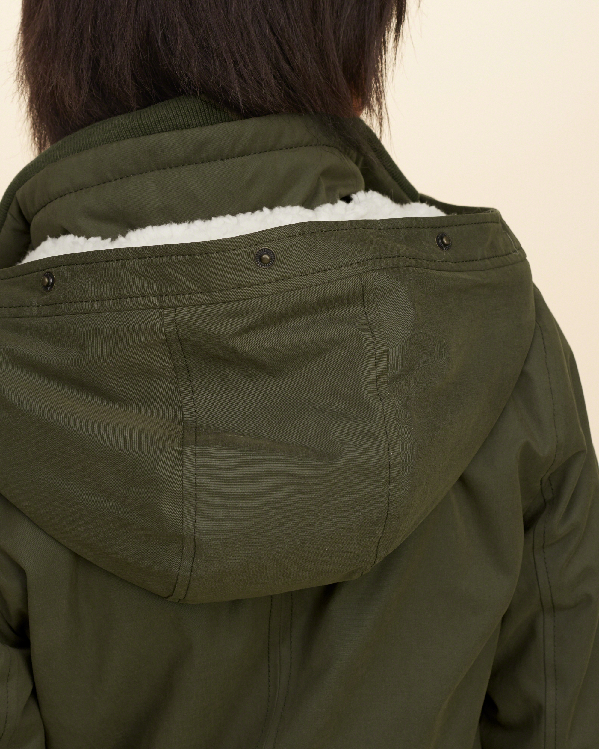 Hollister Sherpa Lined Parka in Olive dd (Green) - Lyst