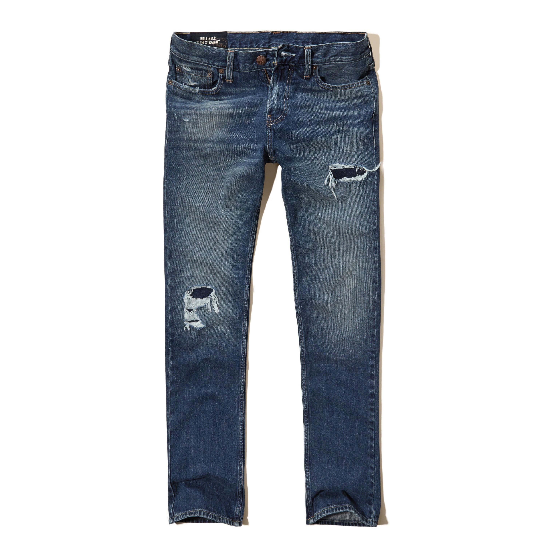 Hollister Slim Straight Jeans for Men   Lyst